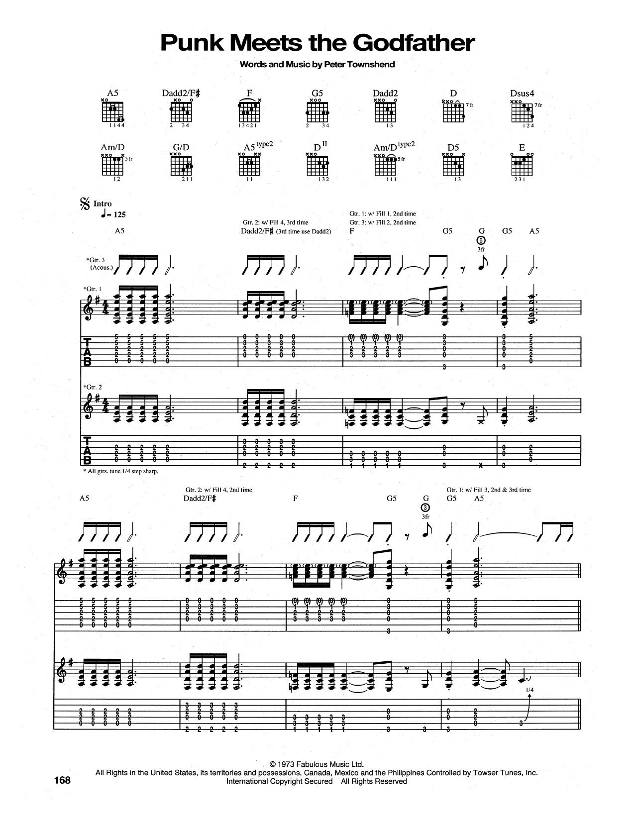 Tablature guitare The Punk Meets The Godfather de The Who - Tablature Guitare