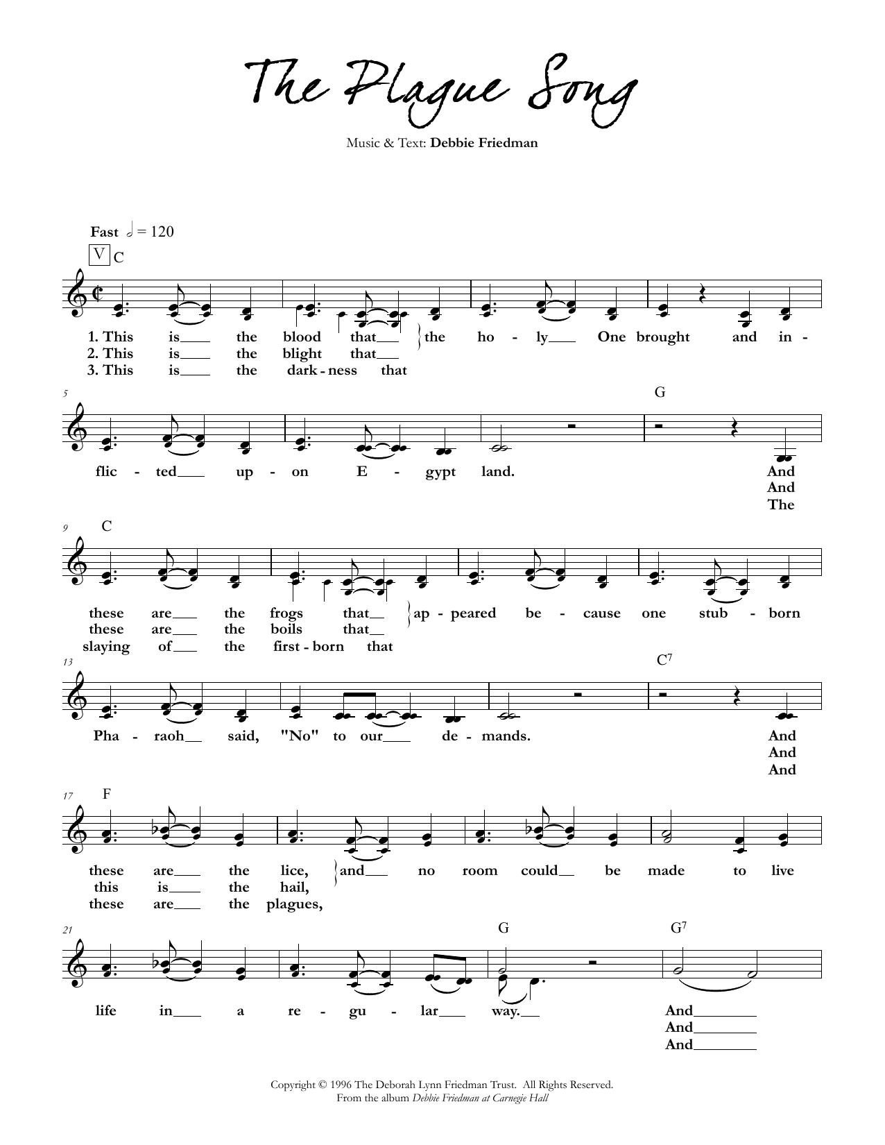 Debbie Friedman - The Plague Song