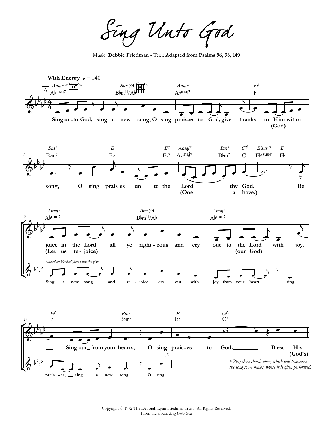 Debbie Friedman - Sing Unto God