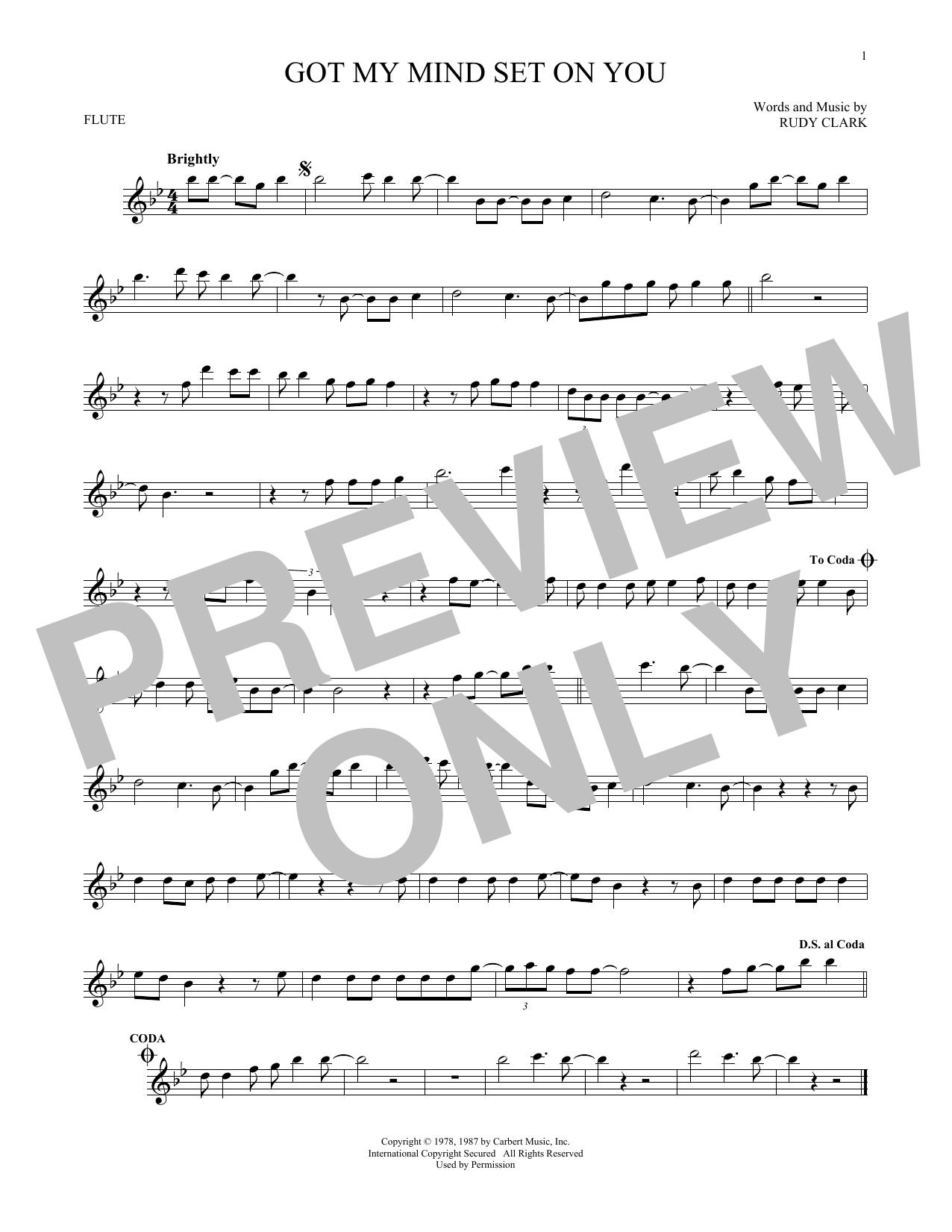 Partition flûte Got My Mind Set On You de George Harrison - Flute traversiere