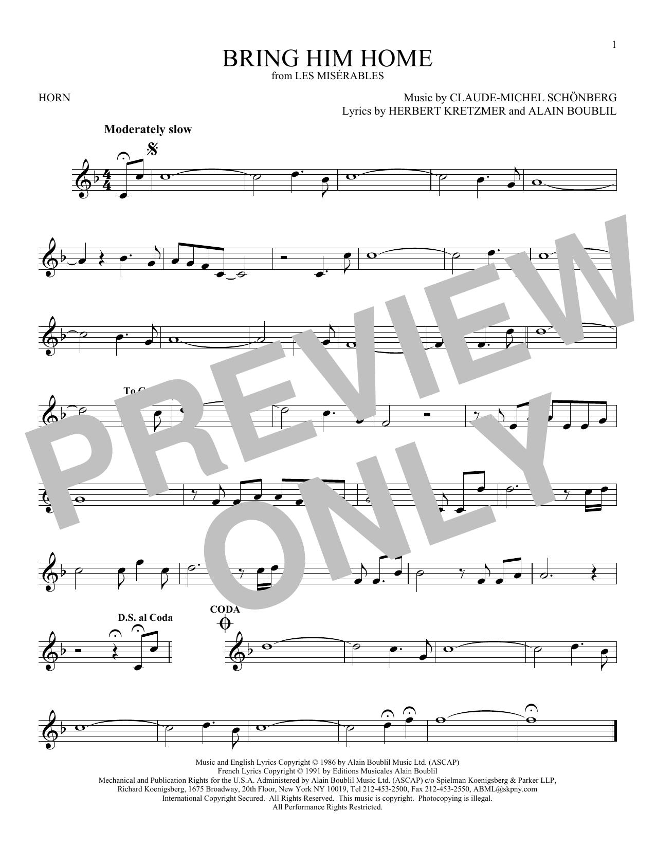 Bring Him Home Sheet Music at Stantons Sheet Music
