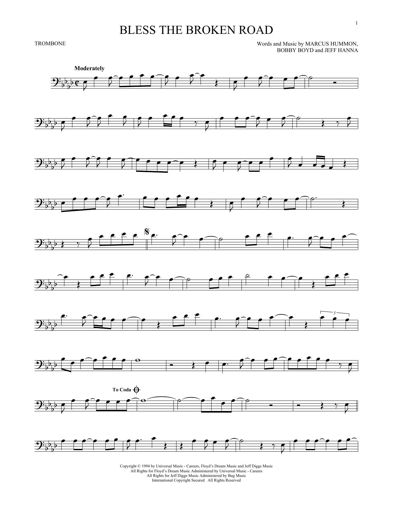 Partition autre Bless The Broken Road de Rascal Flatts - Trombone
