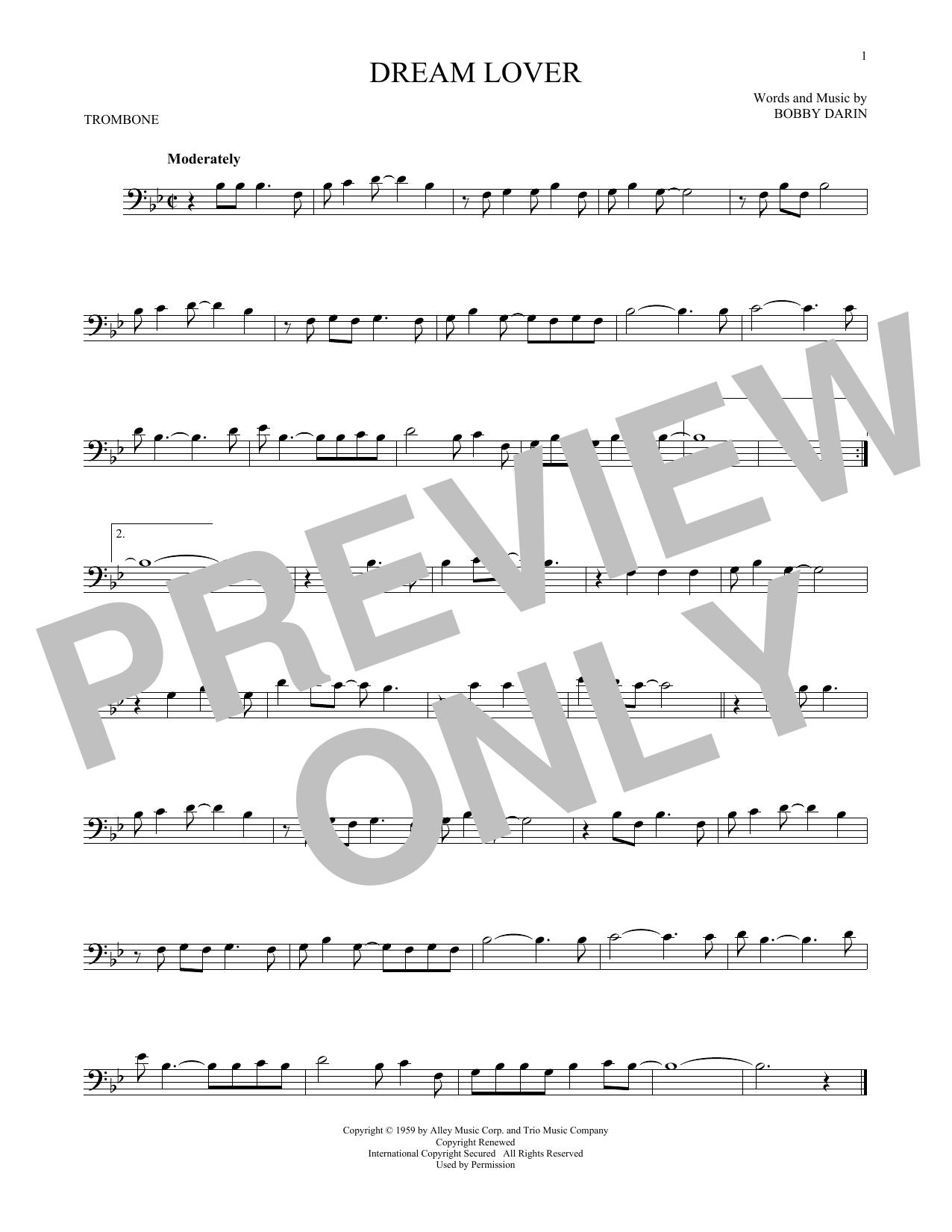 Partition autre Dream Lover de Bobby Darin - Trombone
