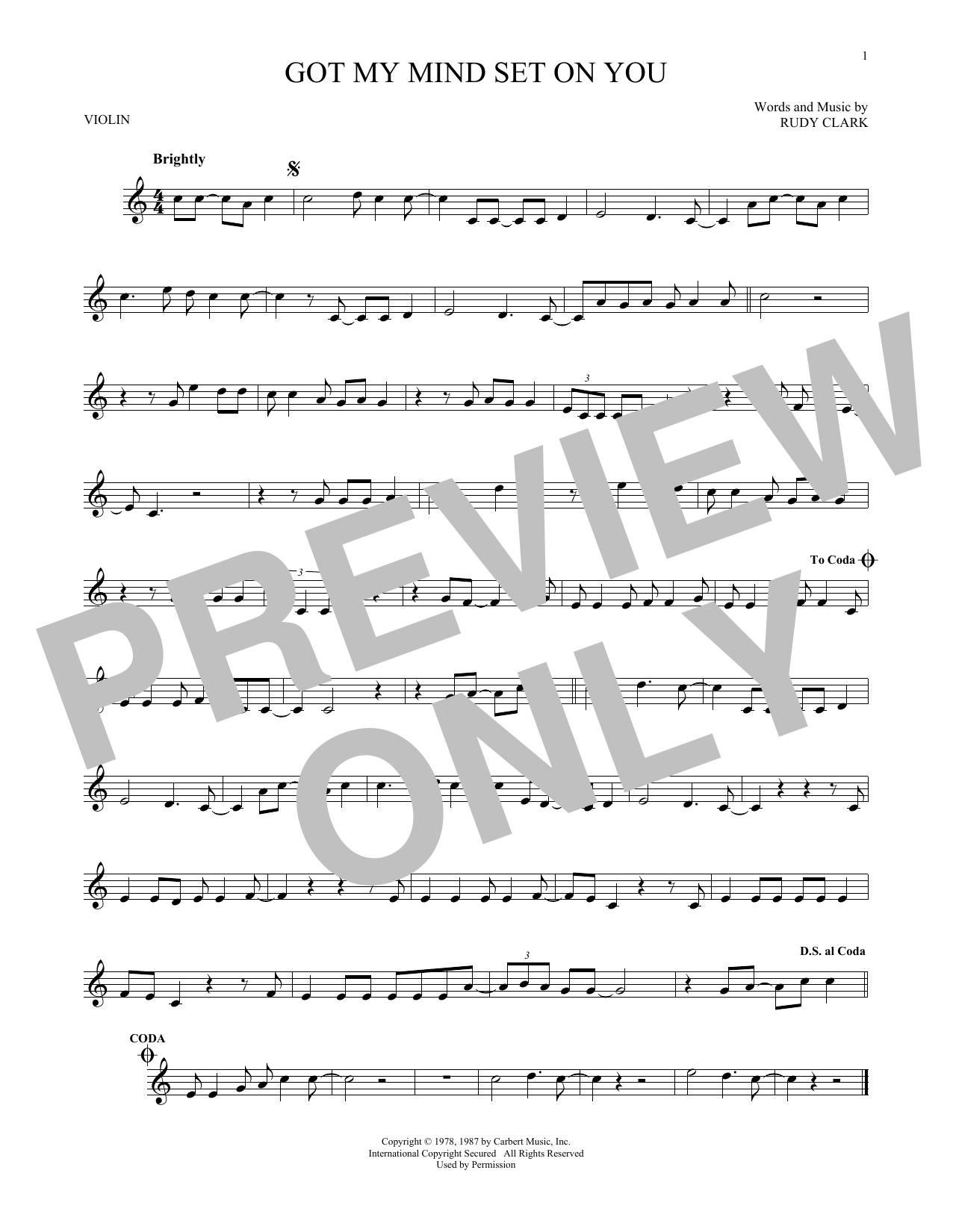 Partition autre Got My Mind Set On You de George Harrison - Violon