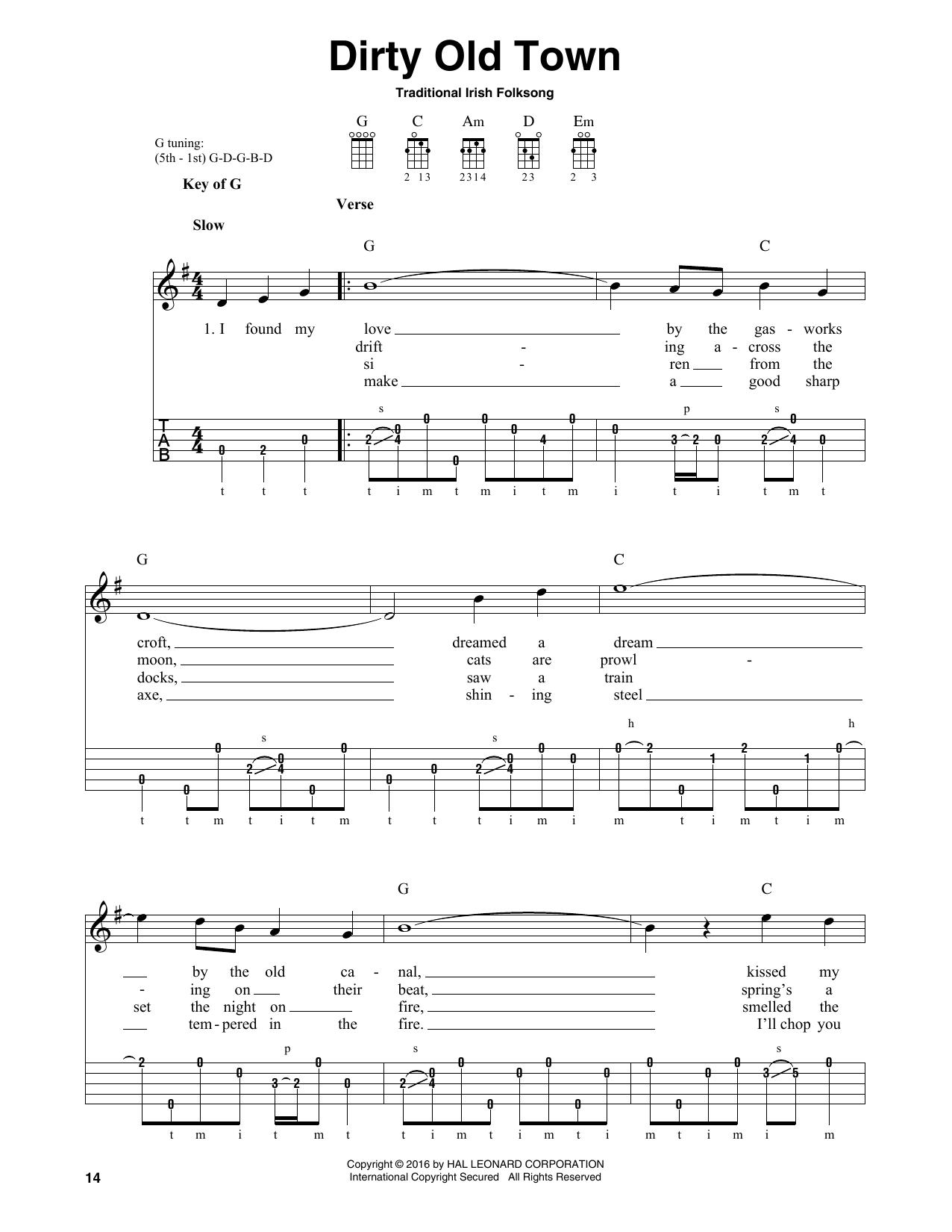 Partition autre Dirty Old Town de Traditional Irish Folk Song - Autre