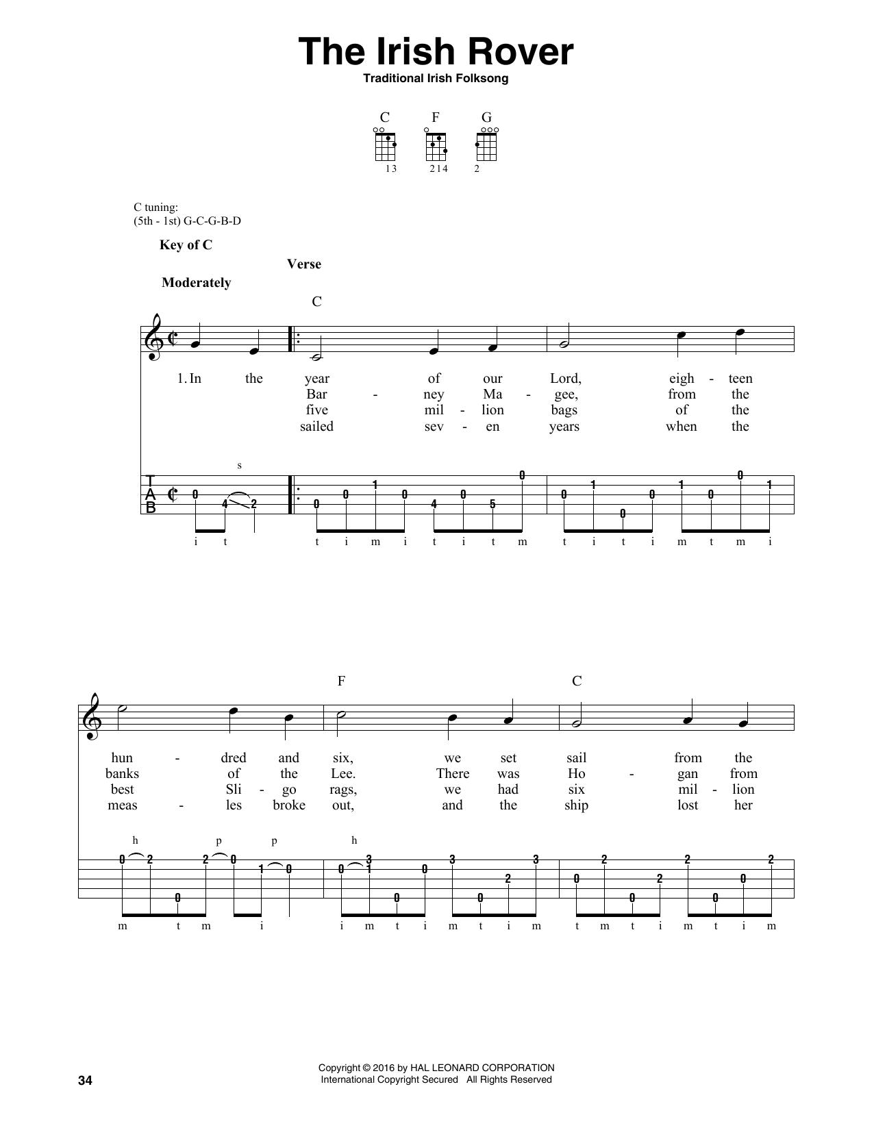 Partition autre The Irish Rover de Traditional Irish Folk Song - Autre