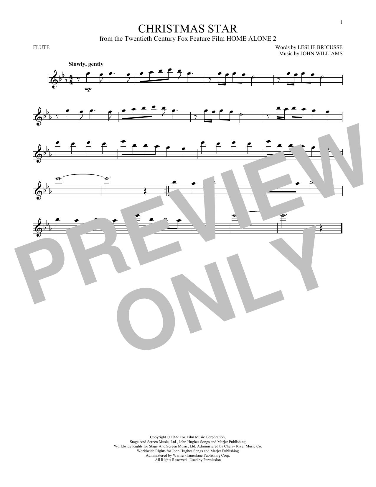 Partition flûte Christmas Star de John Williams - Flute traversiere