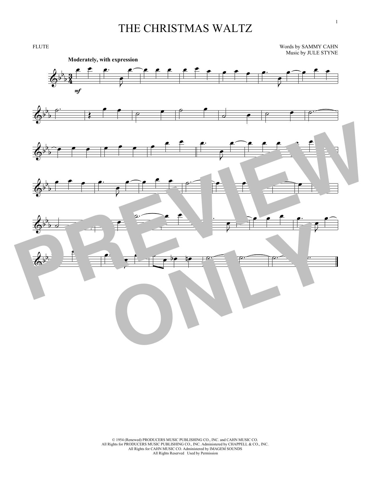 Partition flûte The Christmas Waltz de Frank Sinatra - Flute traversiere