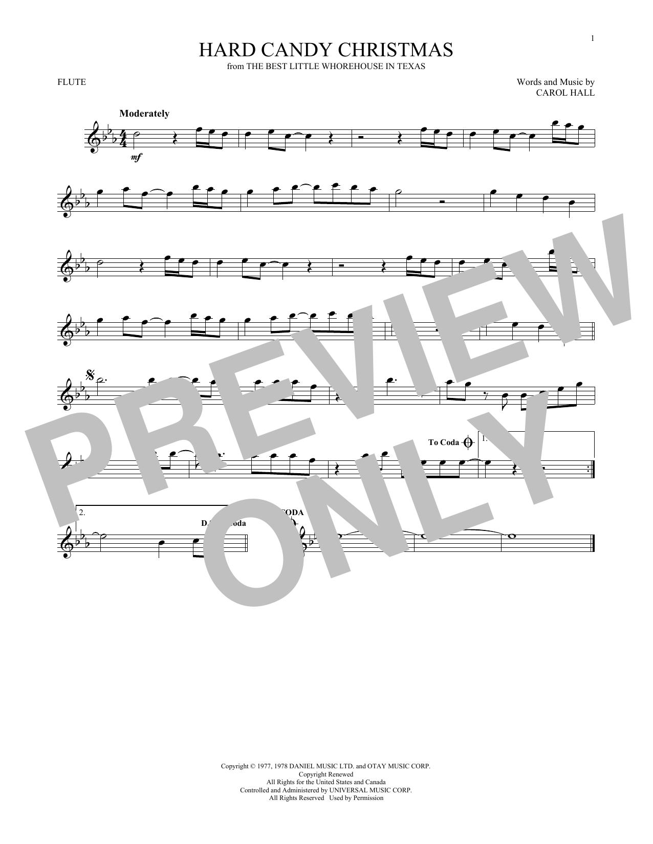 Partition flûte Hard Candy Christmas de Dolly Parton - Flute traversiere