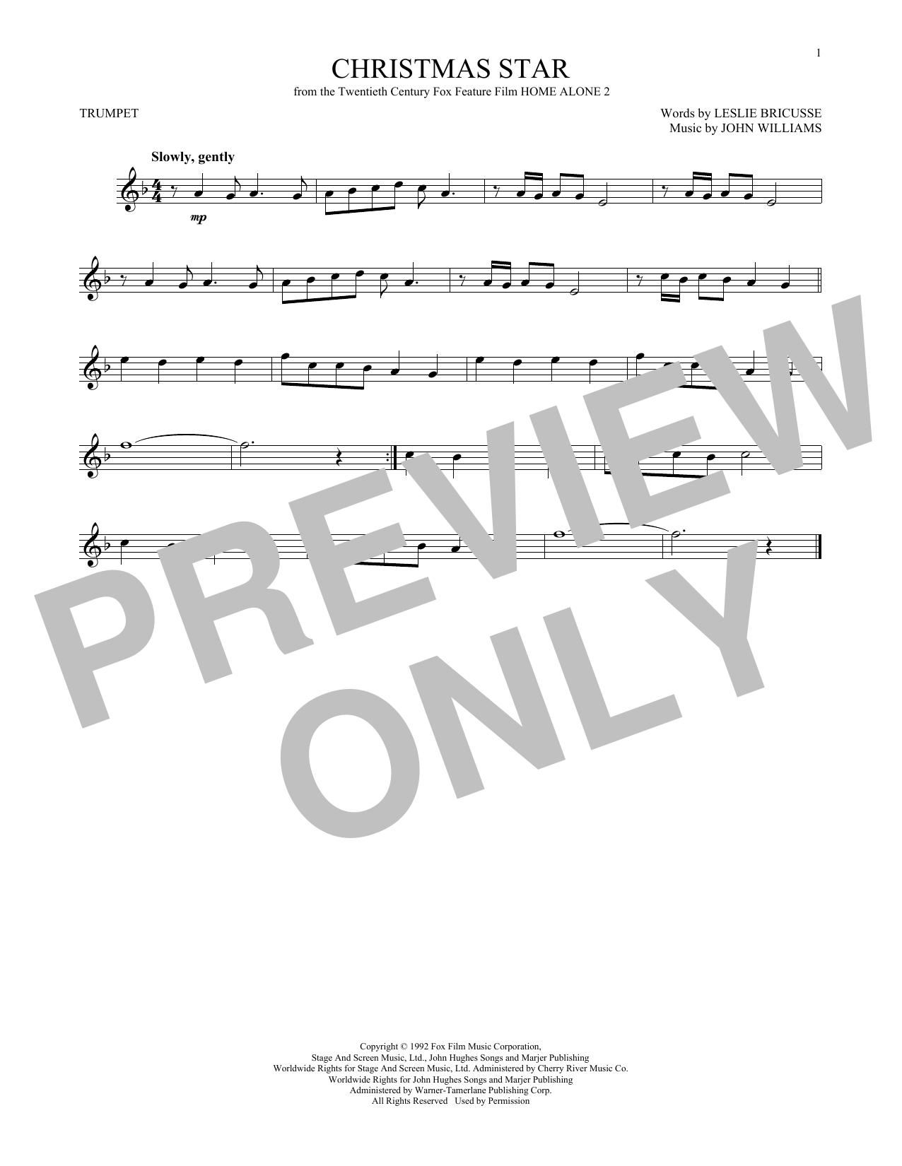 Partition autre Christmas Star de John Williams - Trompette