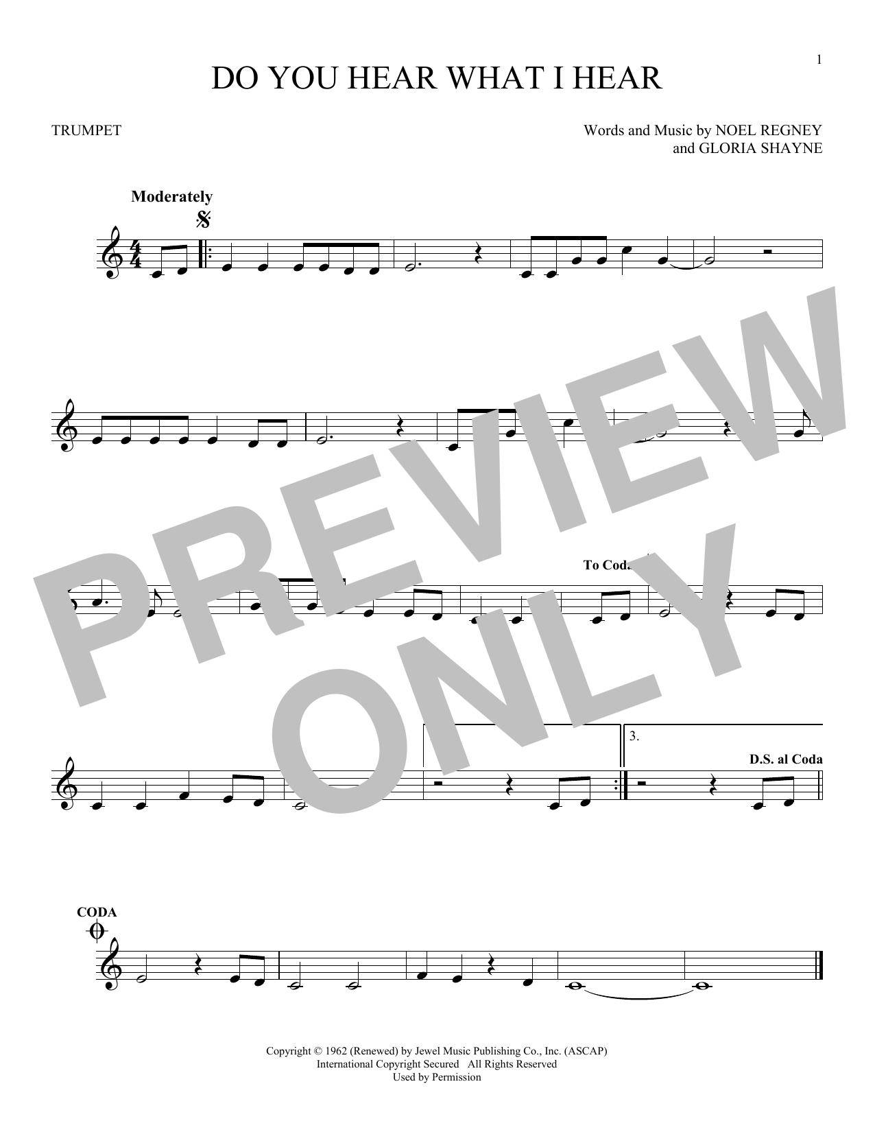 Partition autre Do You Hear What I Hear de Noel Regney & Gloria Shayne - Trompette