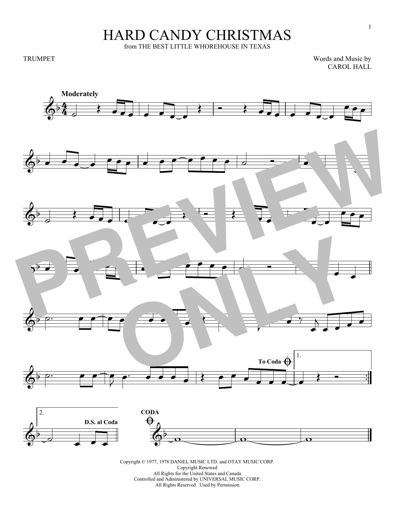 Partition autre Hard Candy Christmas de Dolly Parton - Trompette