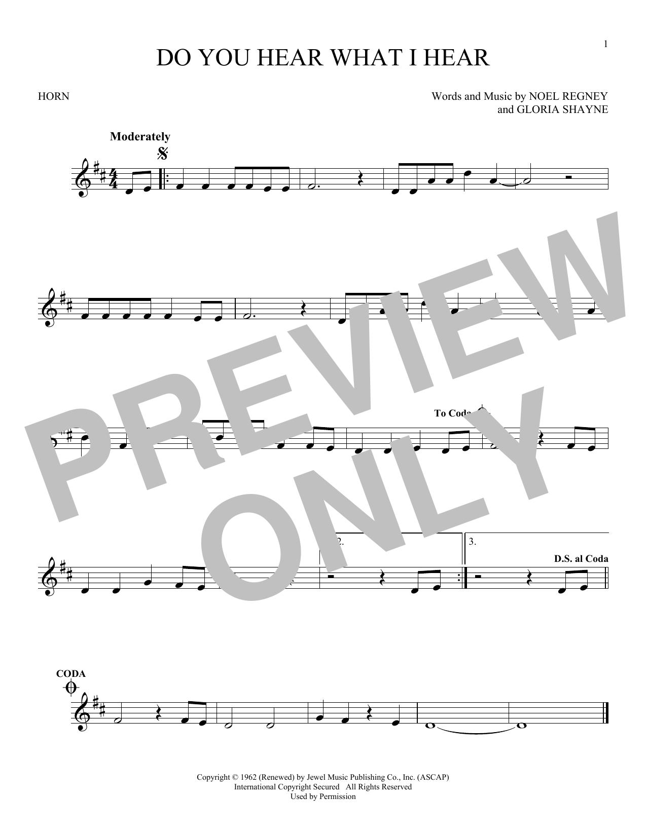 Partition autre Do You Hear What I Hear de Noel Regney & Gloria Shayne - Cor