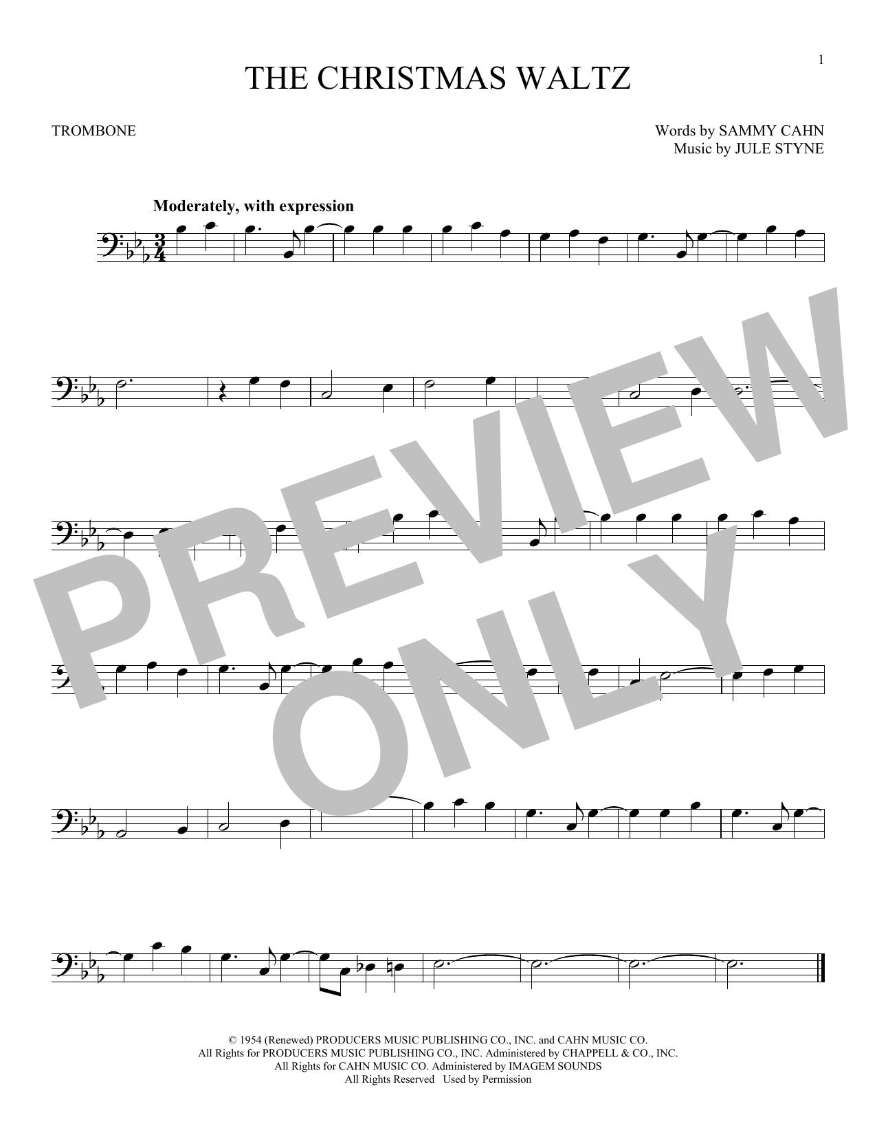 Partition autre The Christmas Waltz de Frank Sinatra - Trombone