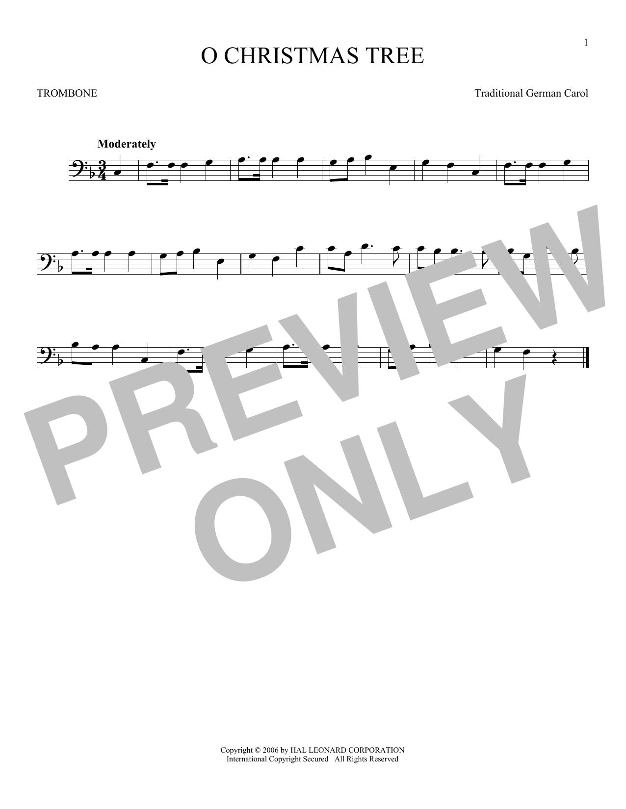 Partition autre O Christmas Tree de Traditional German Carol - Trombone