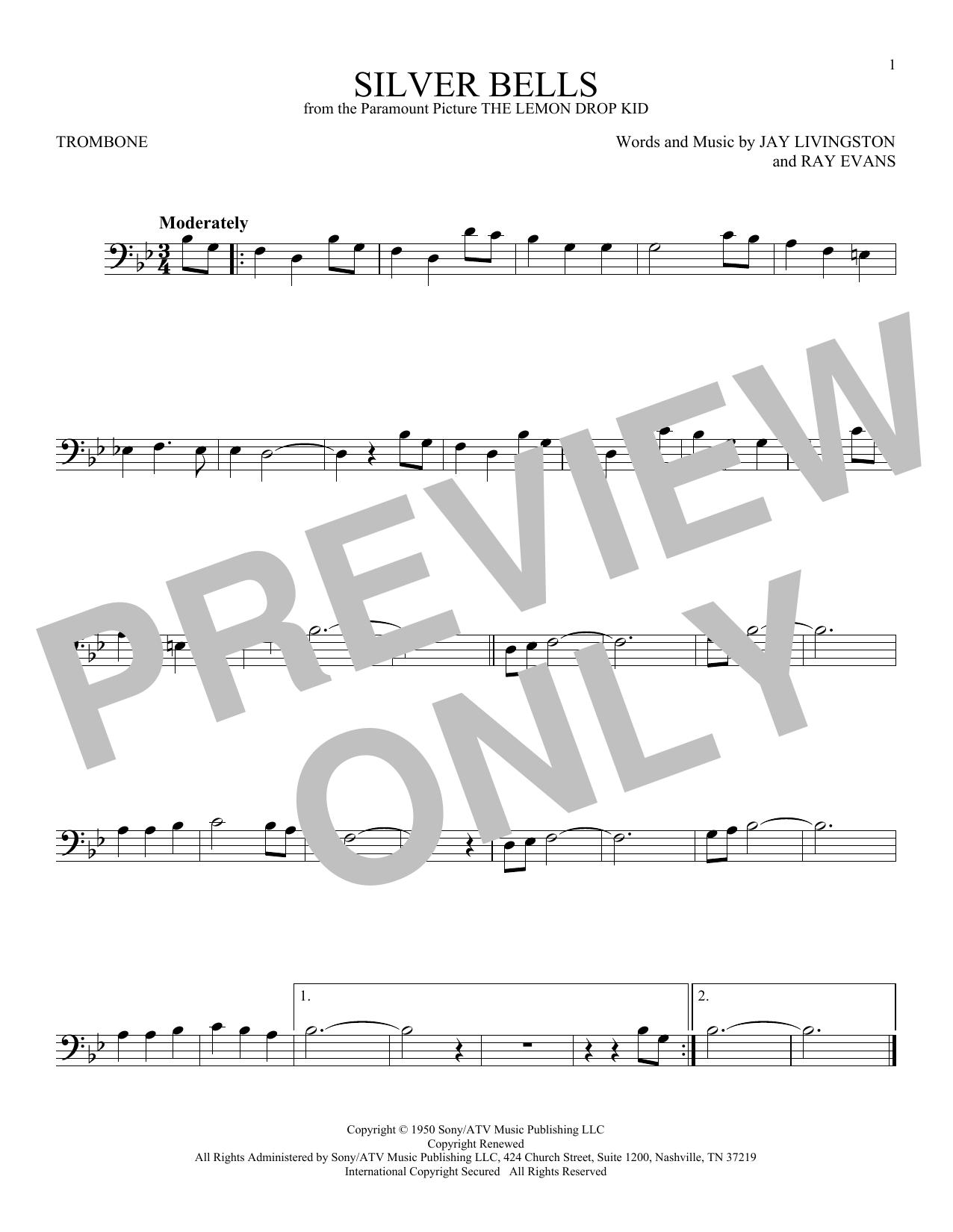 Partition autre Silver Bells de Jay Livingston - Trombone