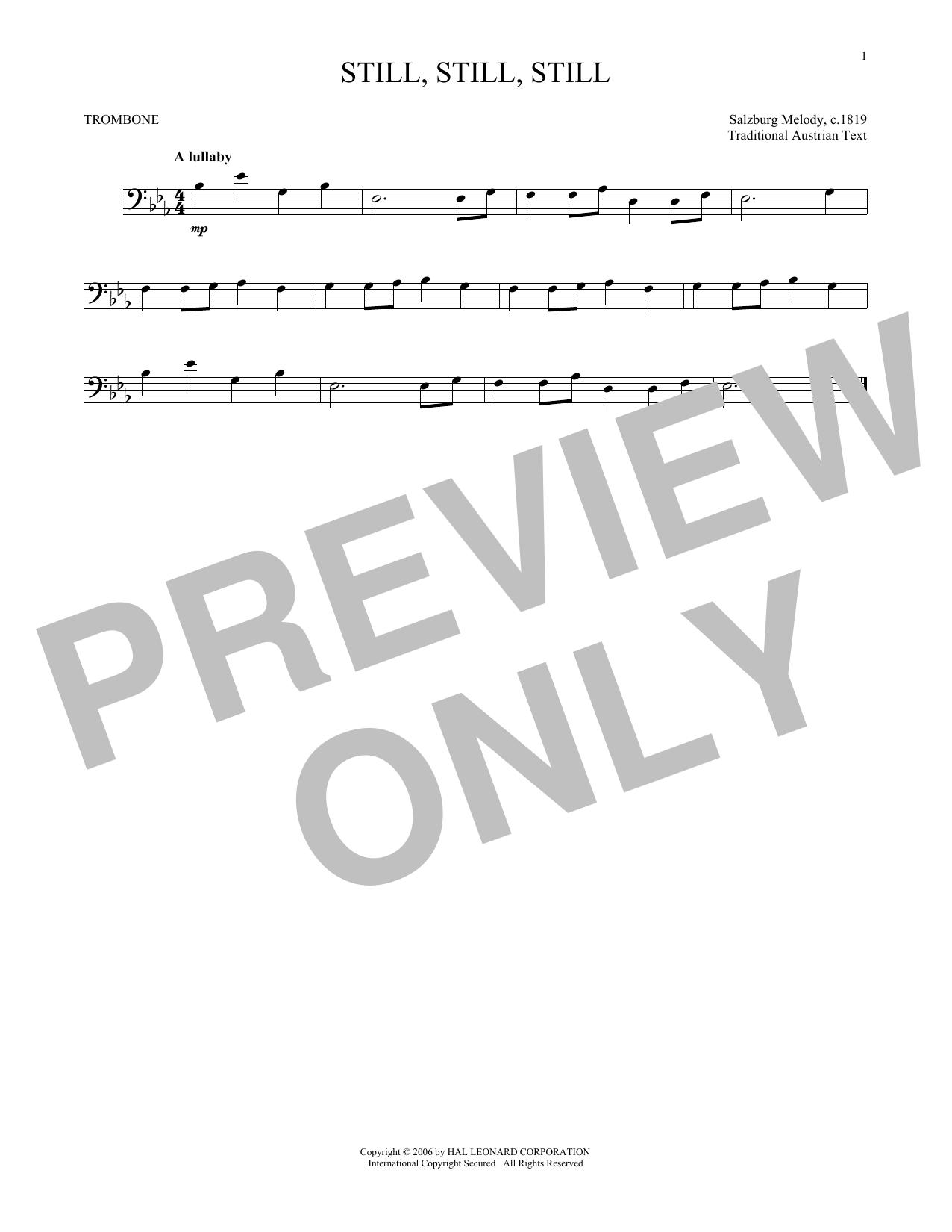 Partition autre Still, Still, Still de Traditional - Trombone