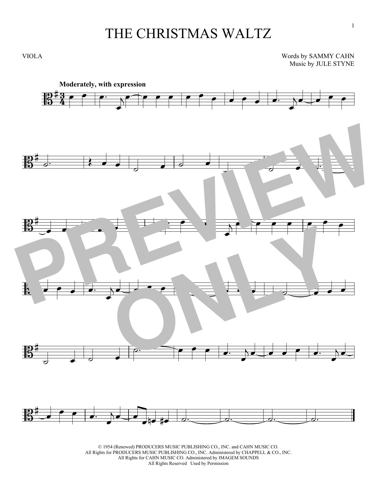 Partition autre The Christmas Waltz de Frank Sinatra - Alto