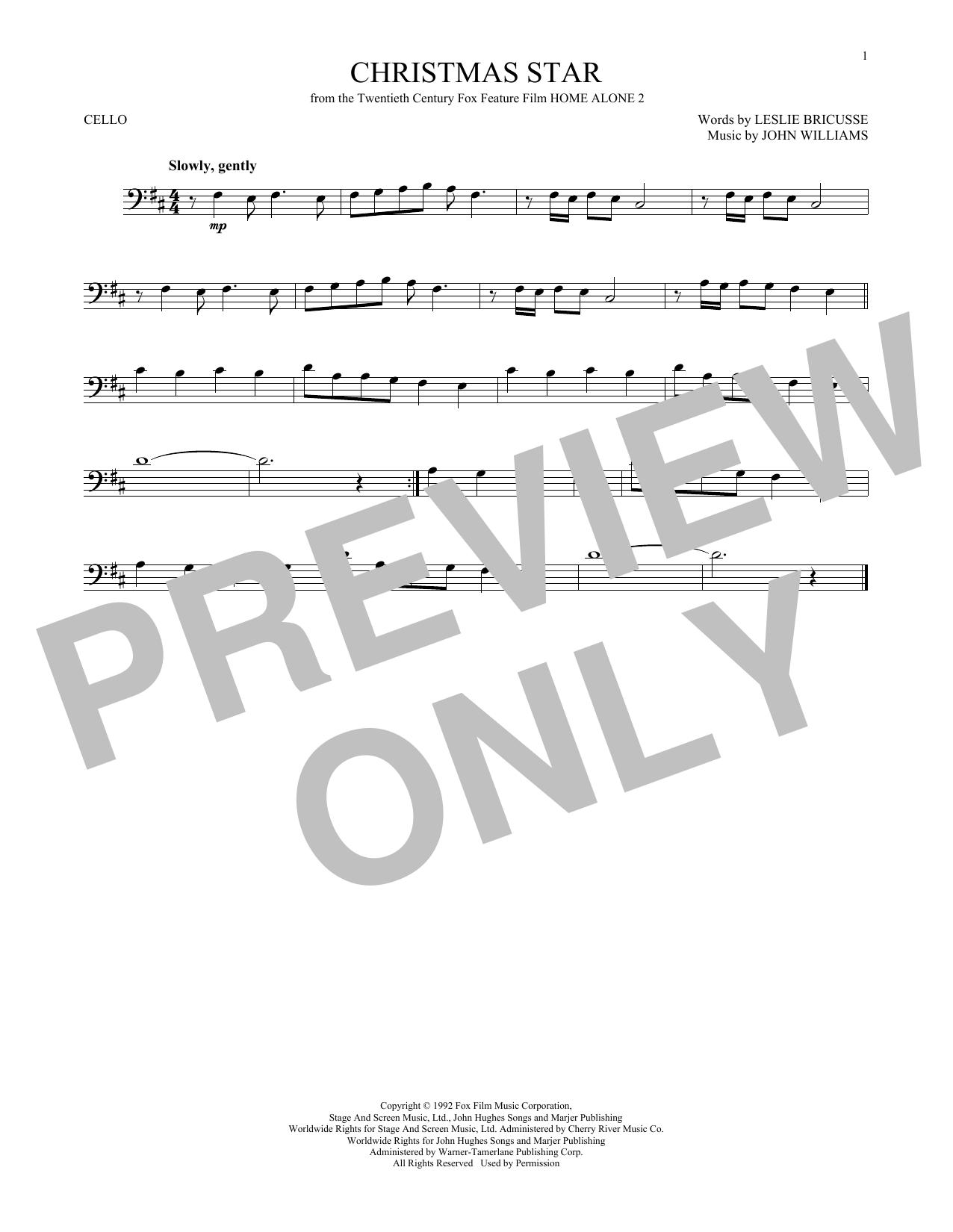 Partition autre Christmas Star de John Williams - Violoncelle
