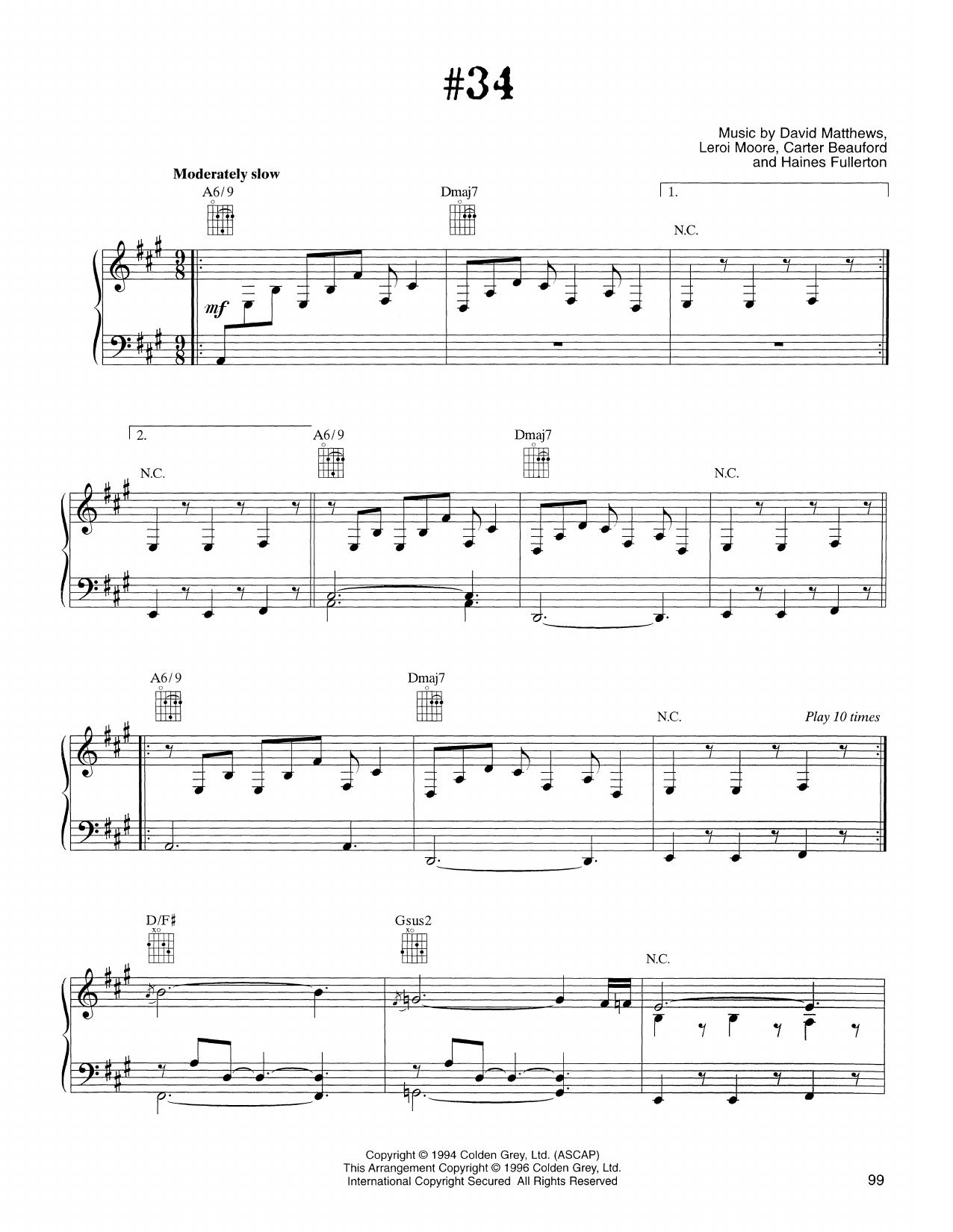Dave Matthews Band - #34
