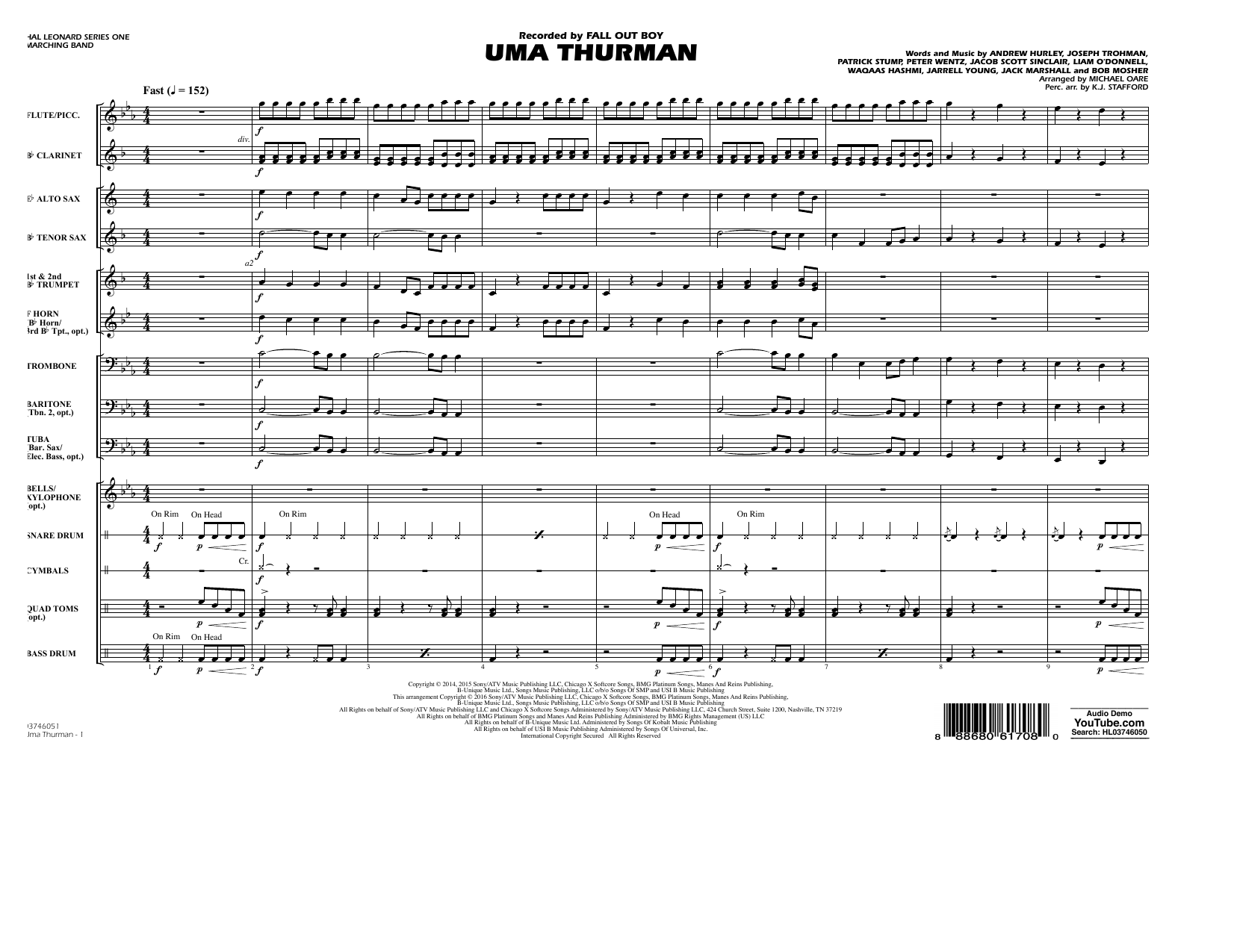 K.J. Stafford - Uma Thurman - Conductor Score (Full Score)