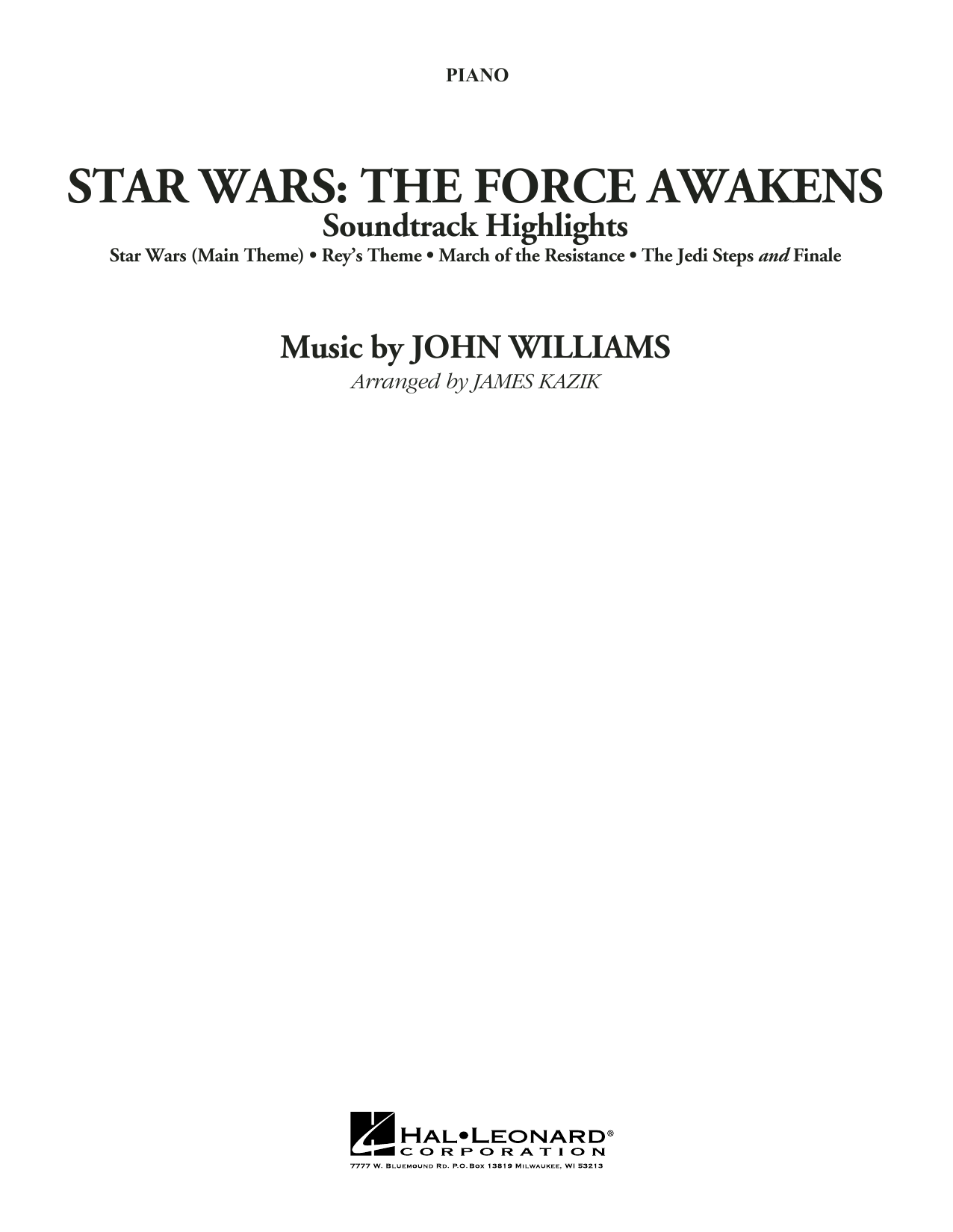 John Williams - Star Wars: The Force Awakens Soundtrack Highlights - Piano