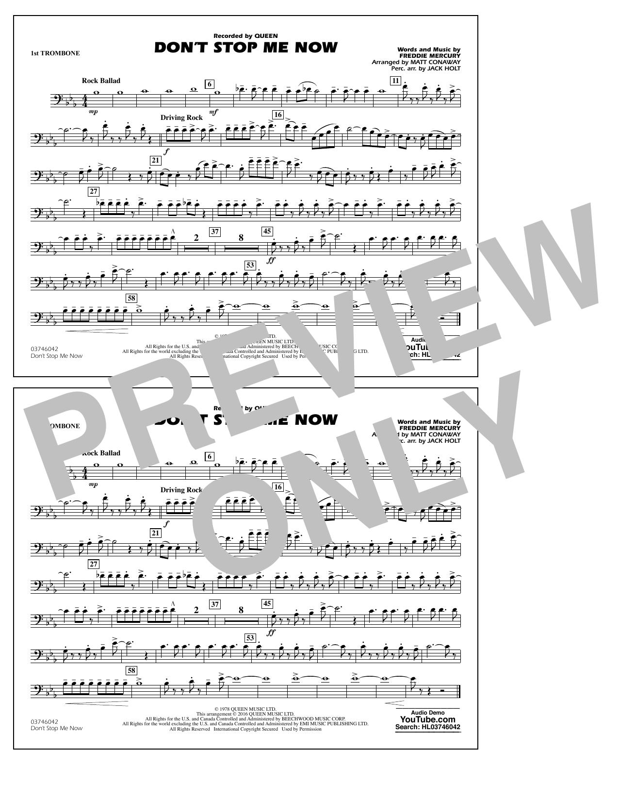 Jack Holt - Don't Stop Me Now - 1st Trombone