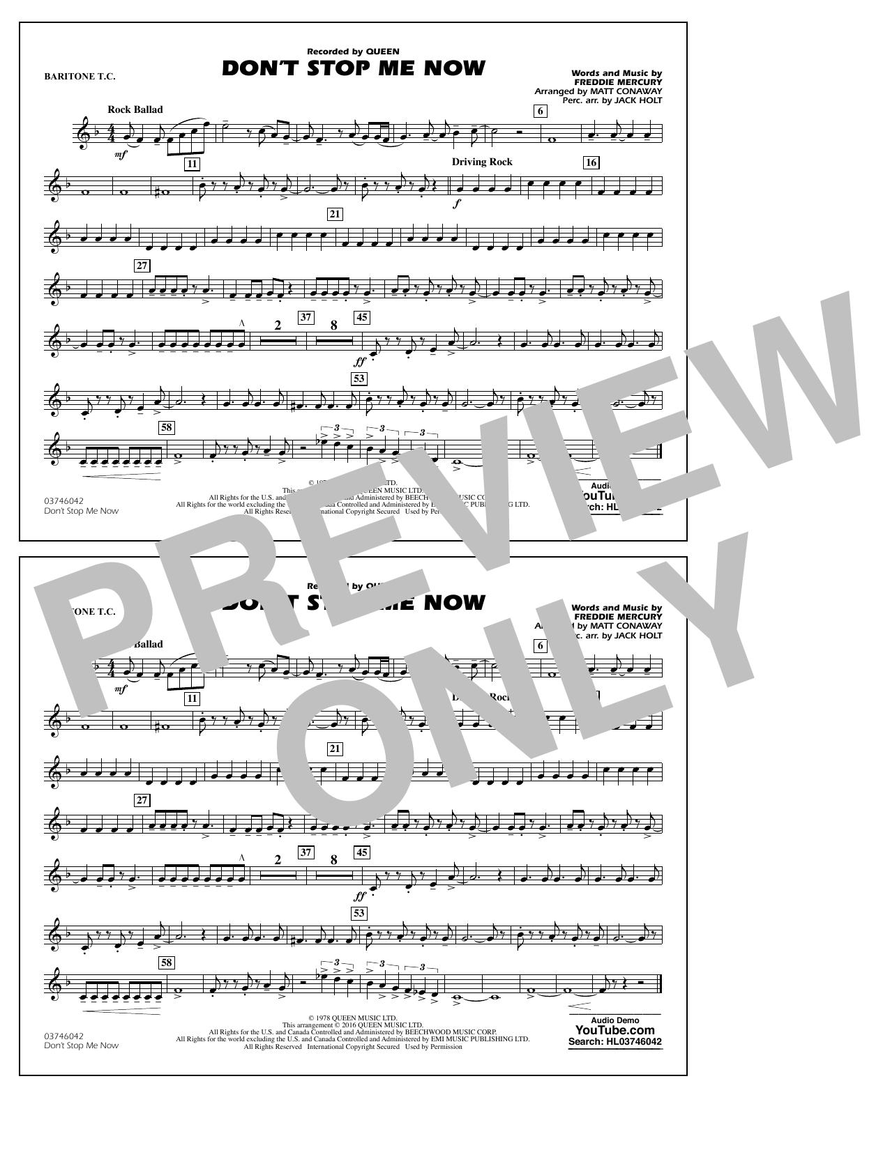 Jack Holt - Don't Stop Me Now - Baritone T.C.