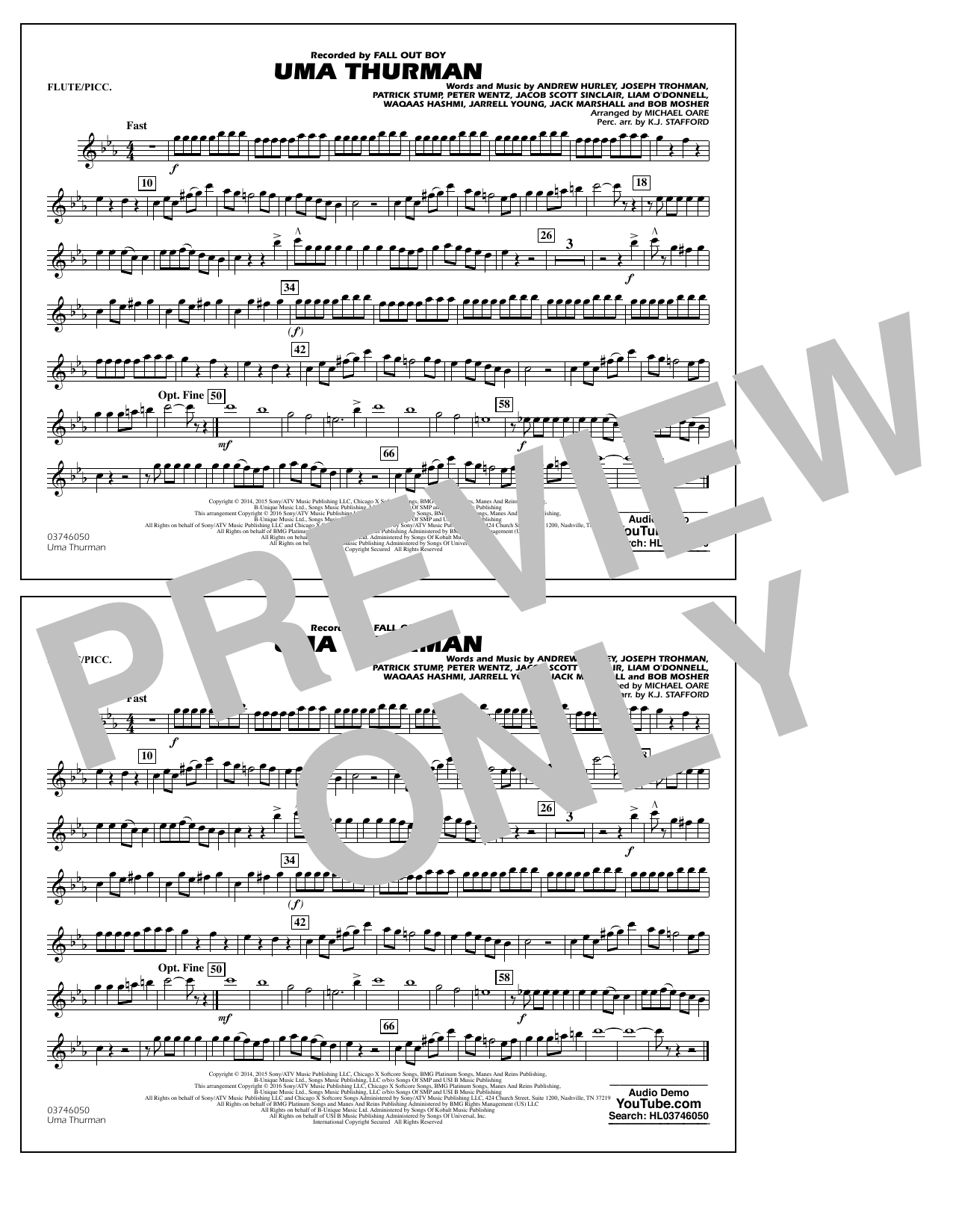 K.J. Stafford - Uma Thurman - Flute/Piccolo