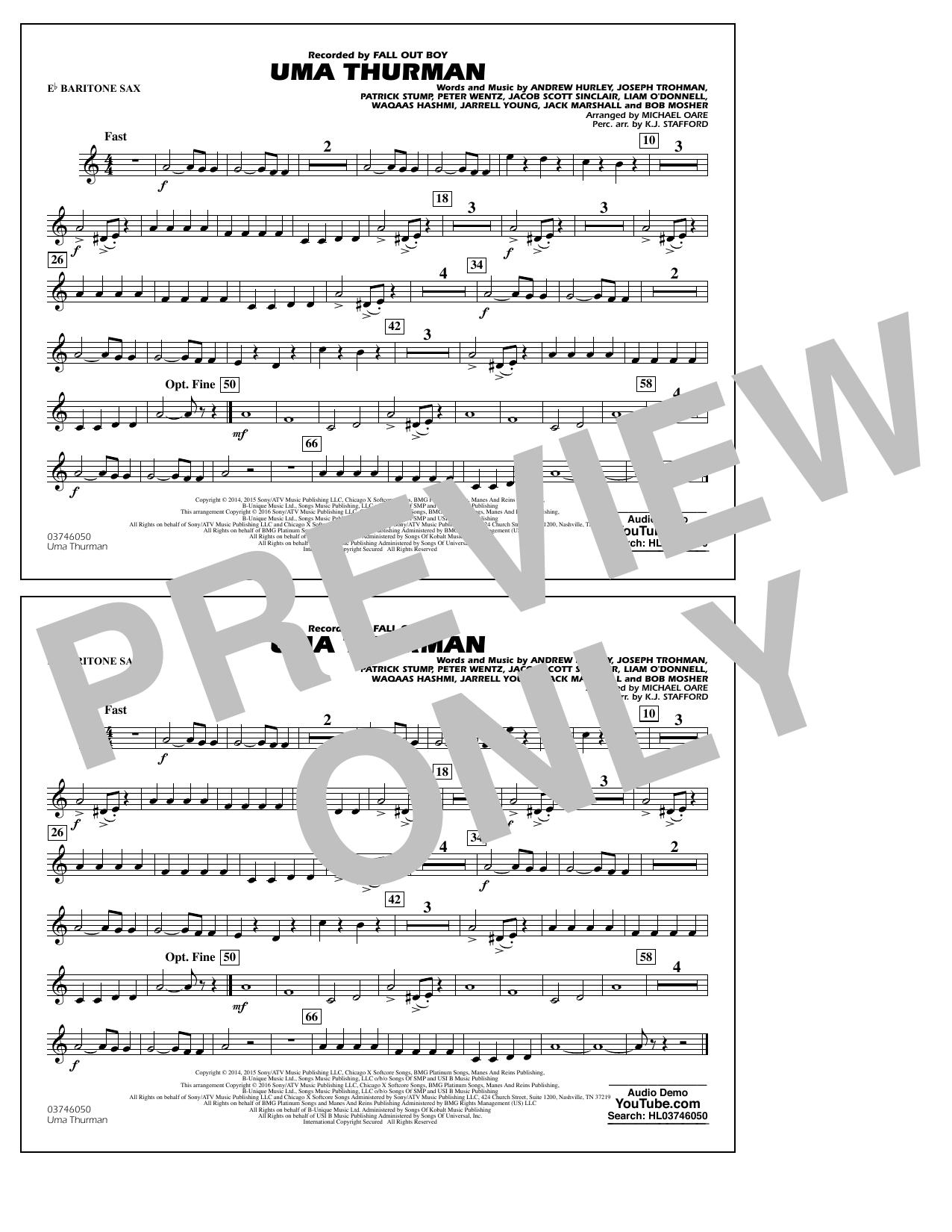 K.J. Stafford - Uma Thurman - Eb Baritone Sax