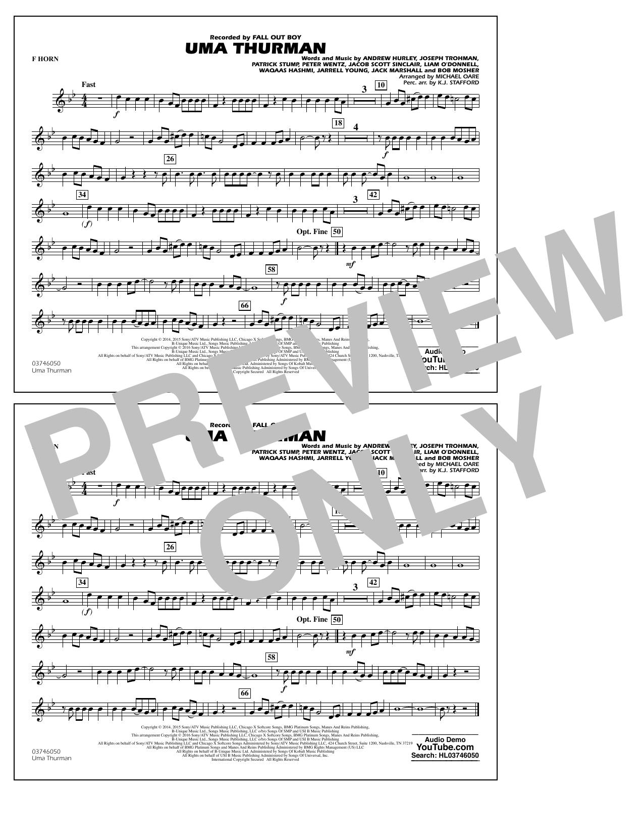K.J. Stafford - Uma Thurman - F Horn