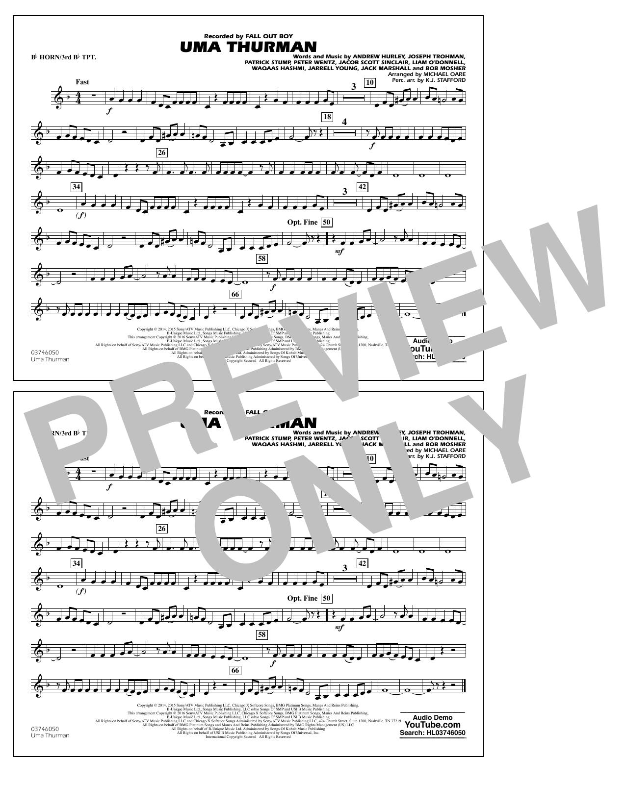 K.J. Stafford - Uma Thurman - Bb Horn/3rd Bb Tpt