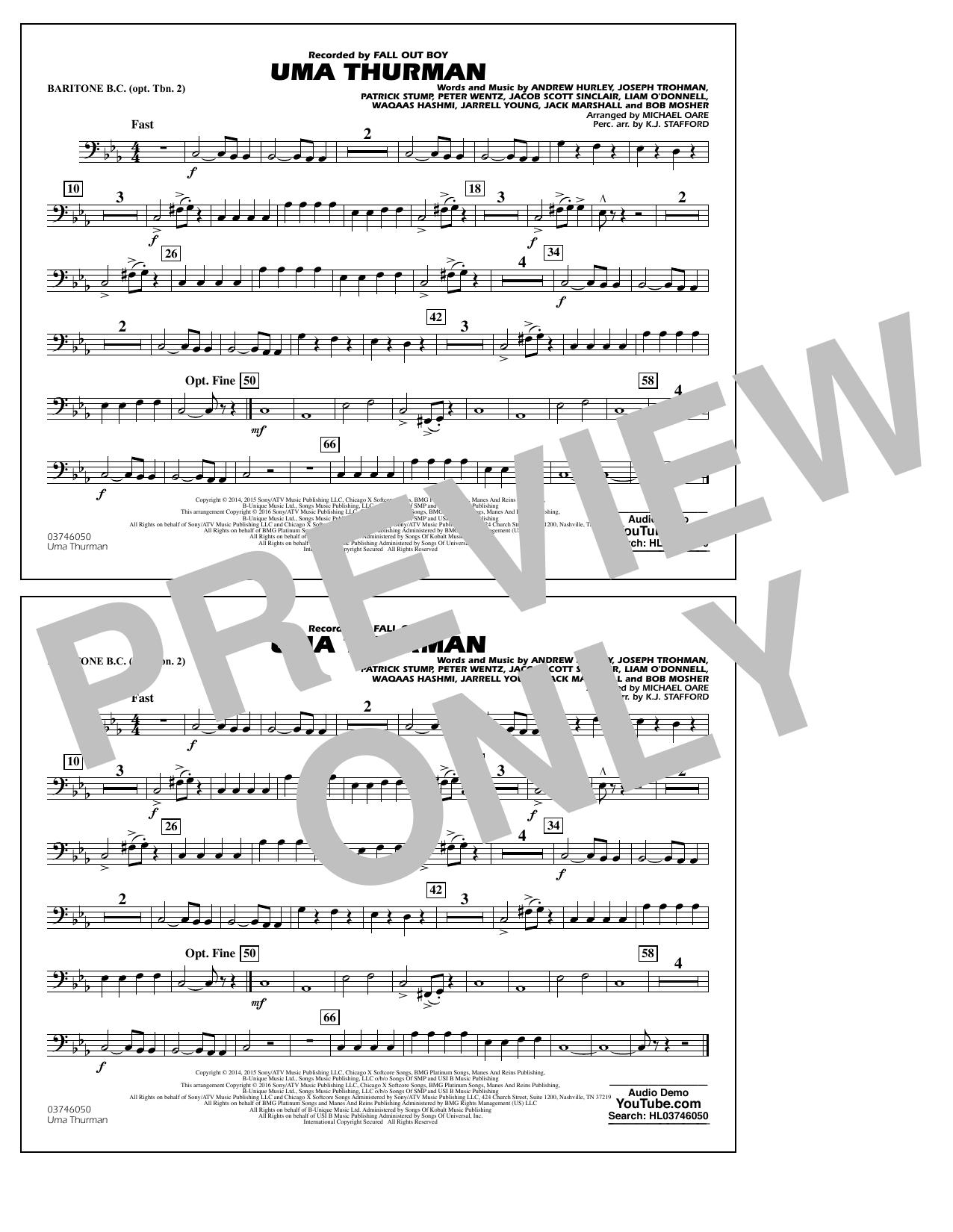 K.J. Stafford - Uma Thurman - Baritone B.C. (Opt. Tbn. 2)