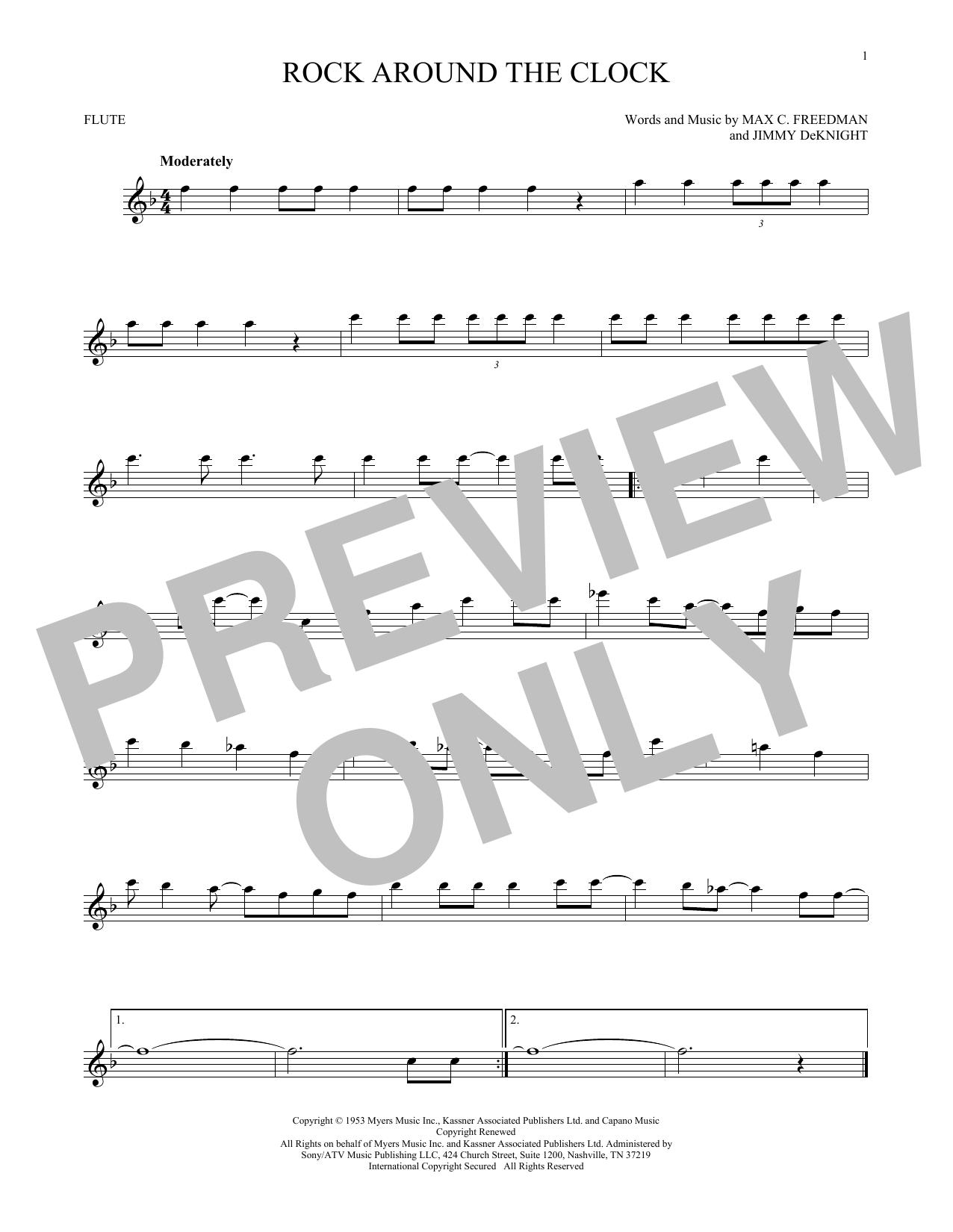 Partition flûte Rock Around The Clock de Bill Haley & His Comets - Flute traversiere