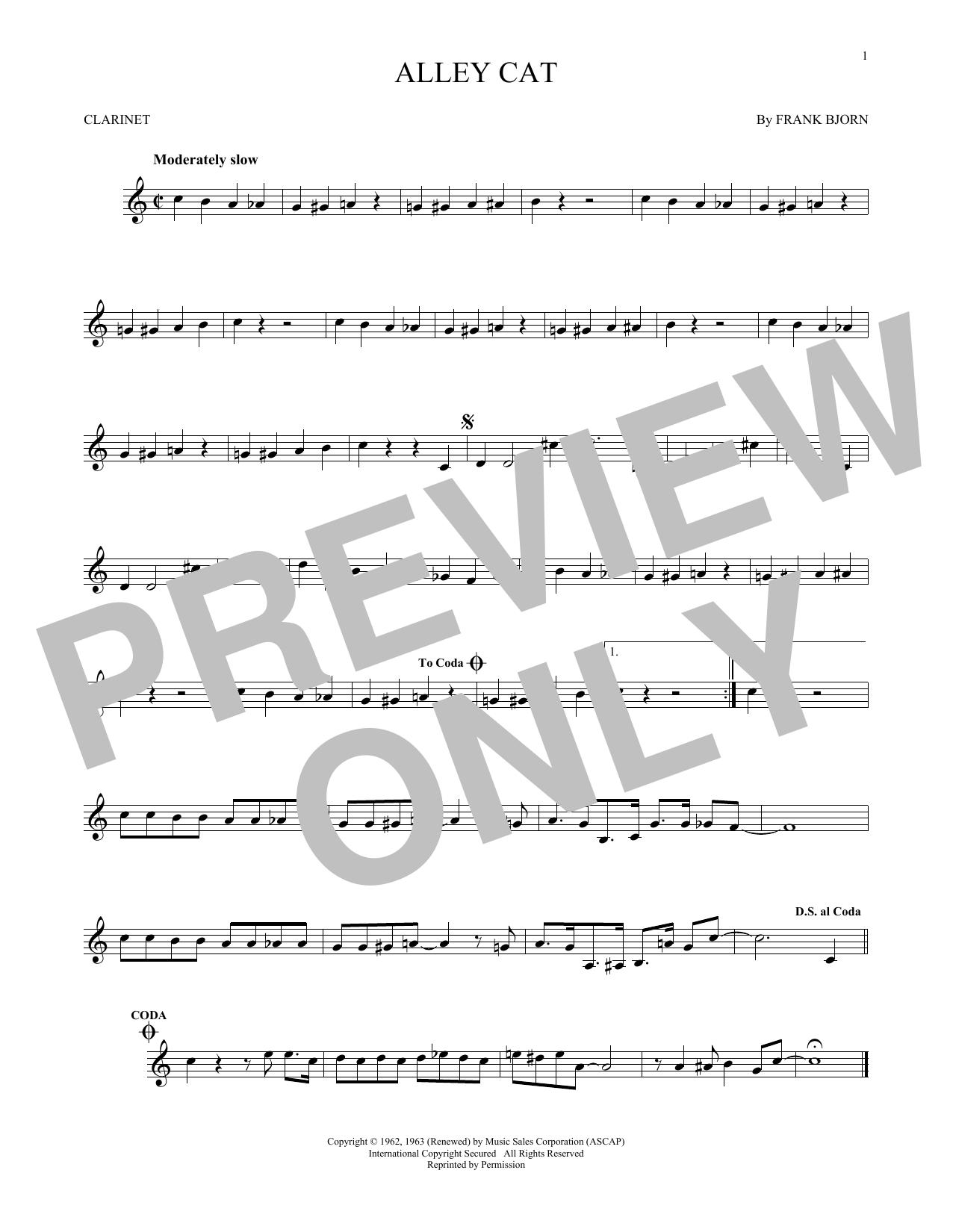 Partition clarinette Alley Cat de Bent Fabric - Clarinette