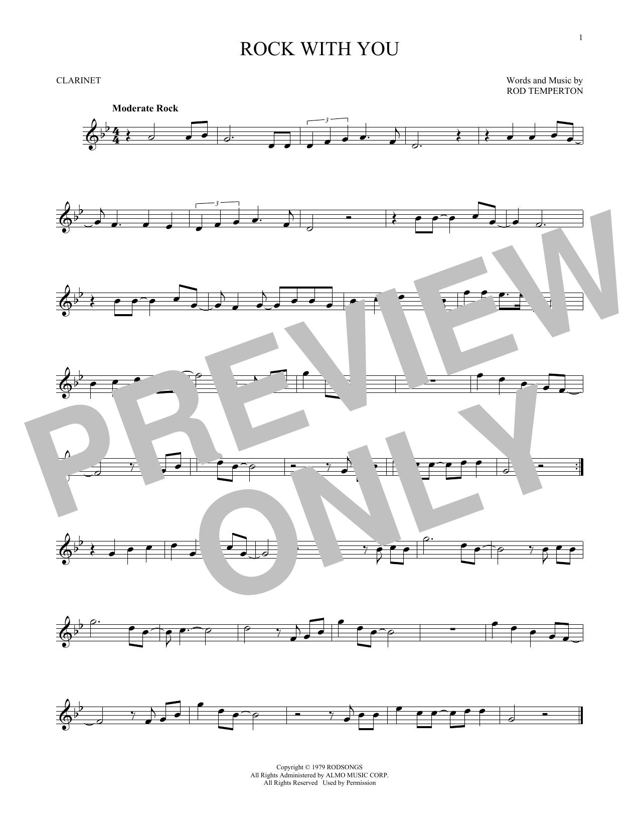 Partition clarinette Rock With You de Michael Jackson - Clarinette