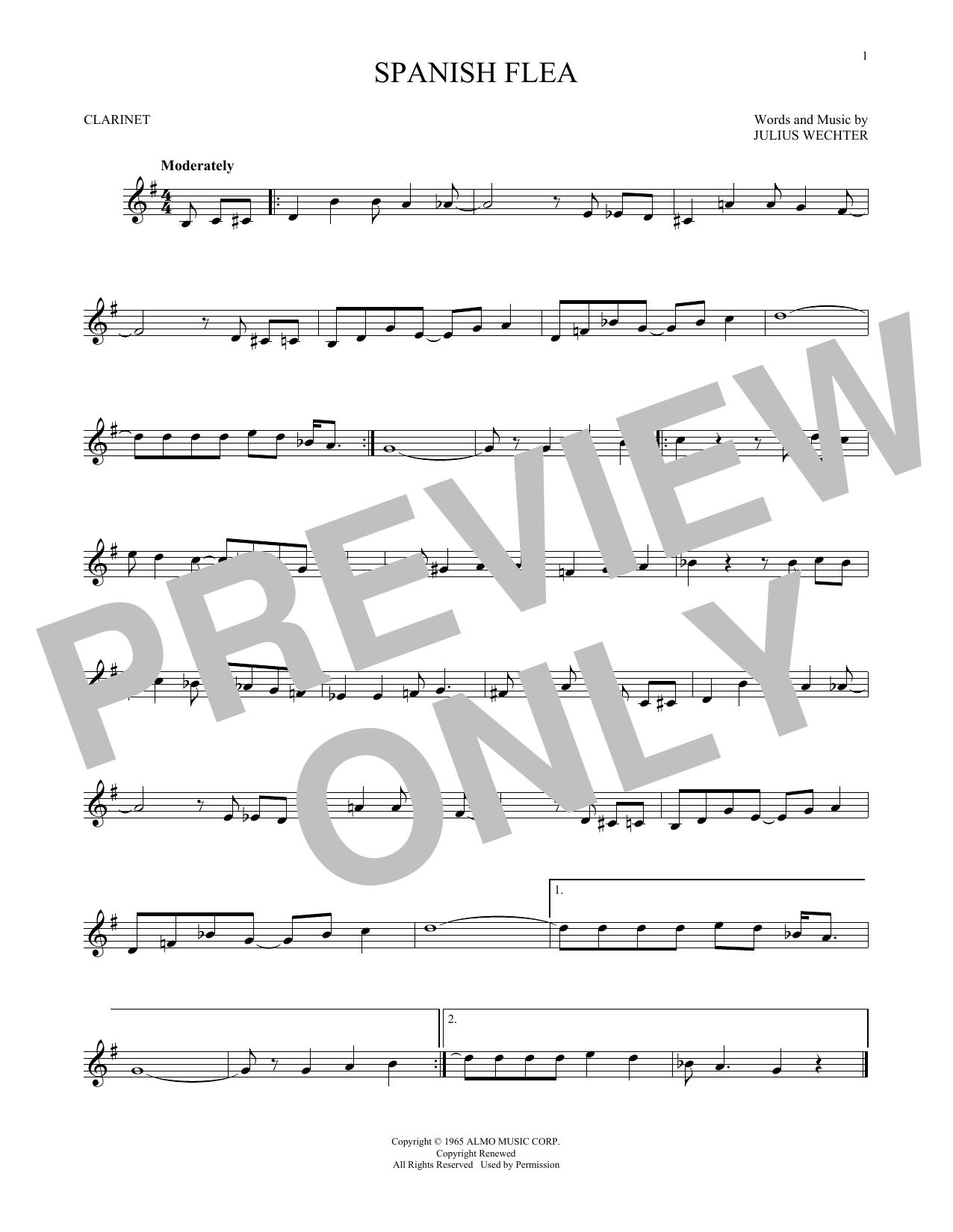 Partition clarinette Spanish Flea de Herb Alpert & The Tijuana Brass - Clarinette