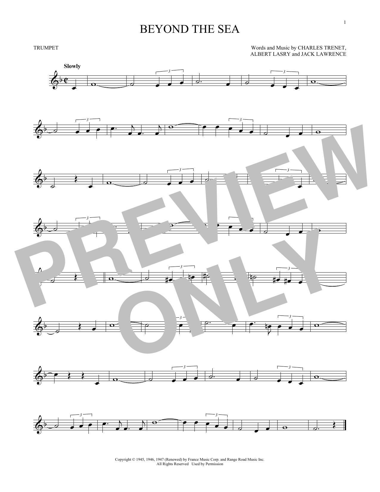 Partition autre Beyond The Sea de Bobby Darin - Trompette