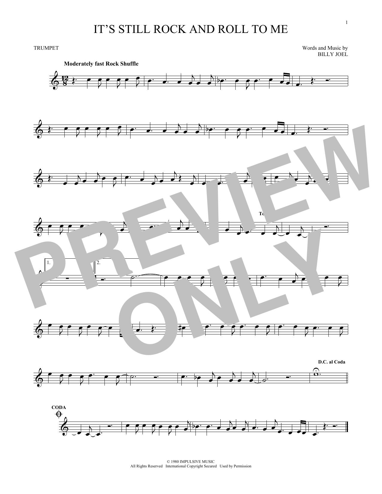 Partition autre It's Still Rock And Roll To Me de Billy Joel - Trompette