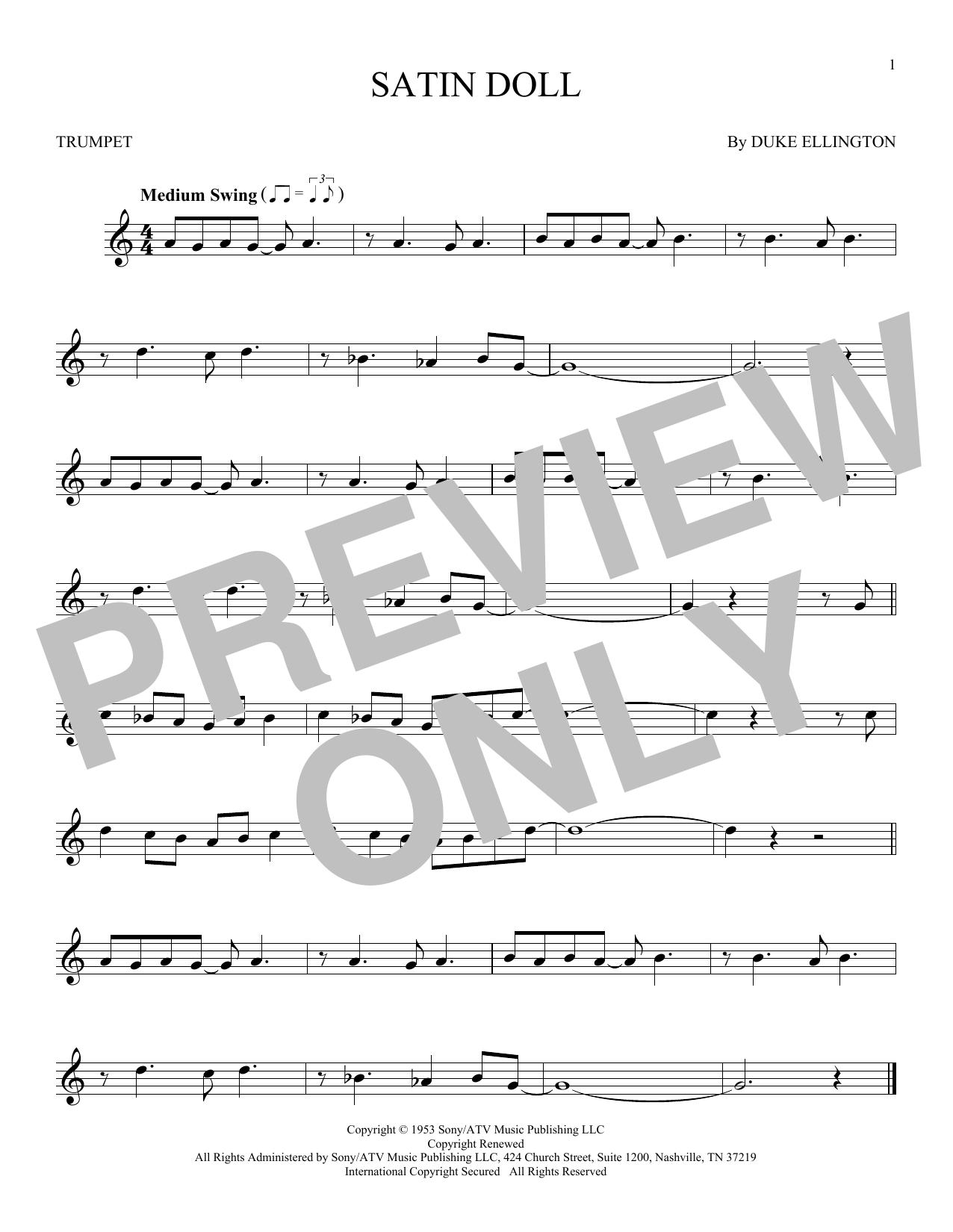 Partition autre Satin Doll de Duke Ellington - Trompette