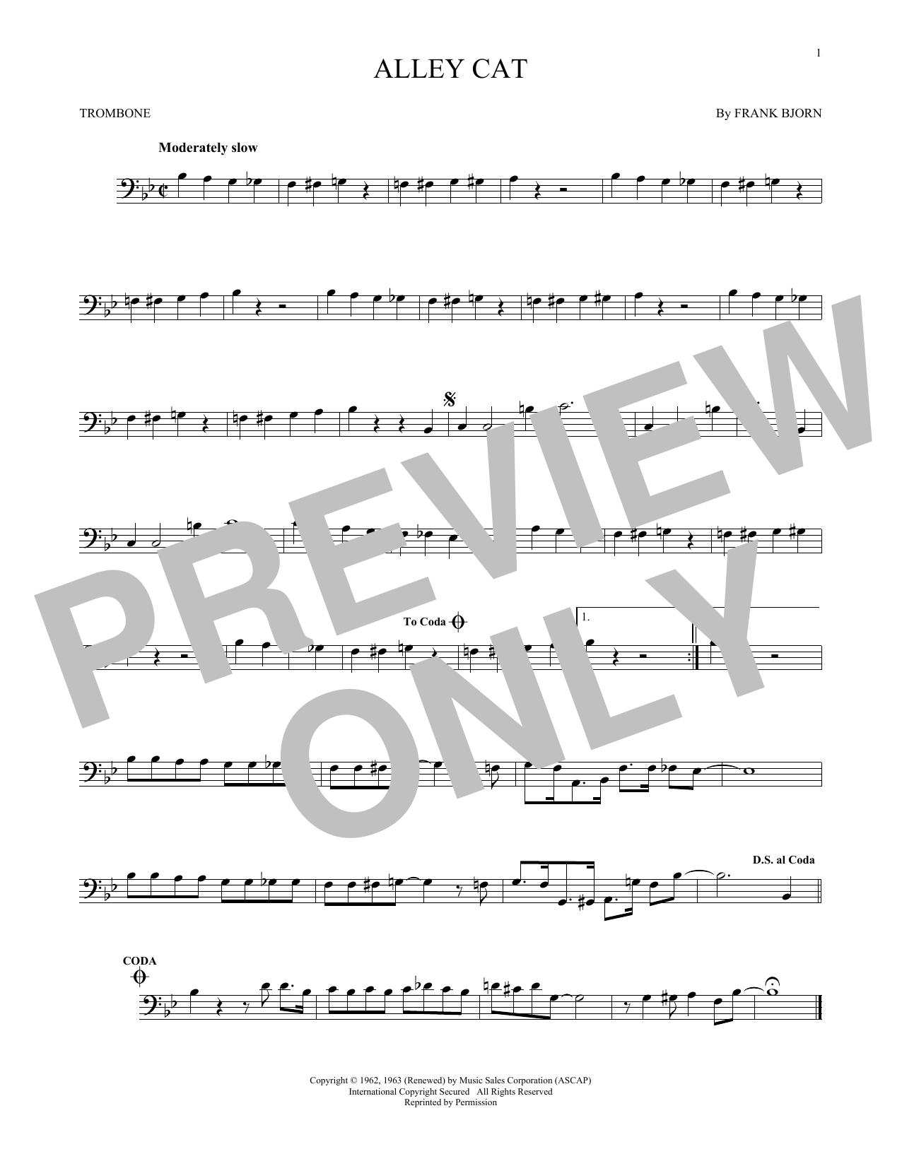 Partition autre Alley Cat de Bent Fabric - Trombone