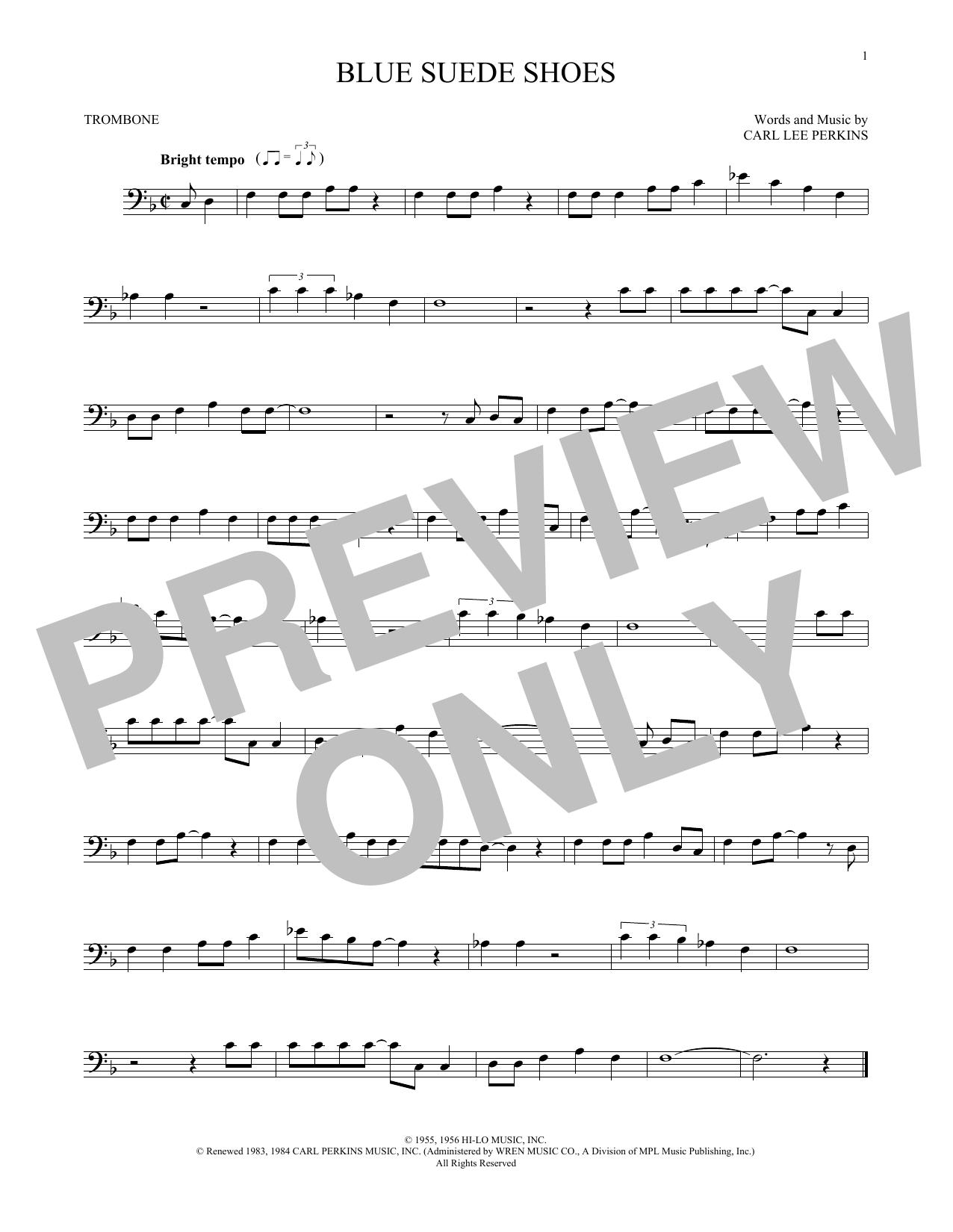 Partition autre Blue Suede Shoes de Carl Perkins - Trombone