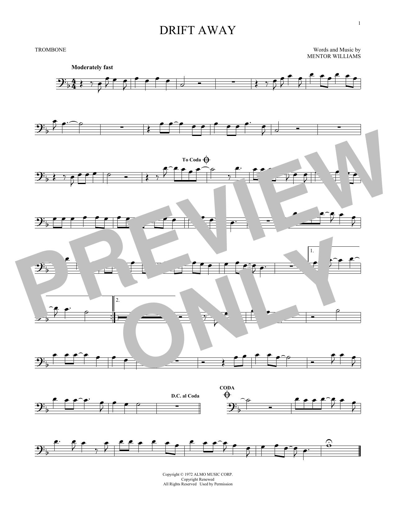 Partition autre Drift Away de Dobie Gray - Trombone