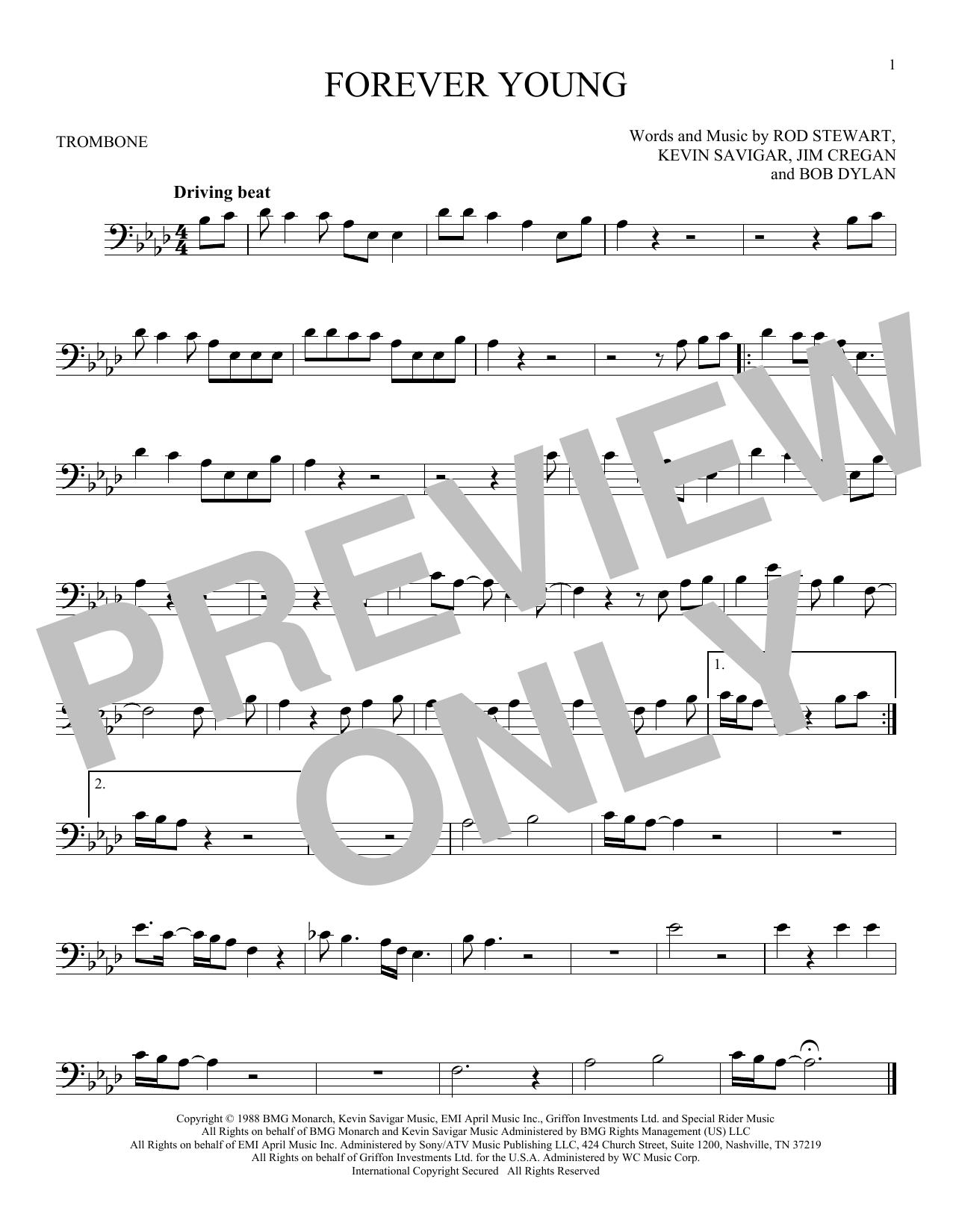 Partition autre Forever Young de Rod Stewart - Trombone