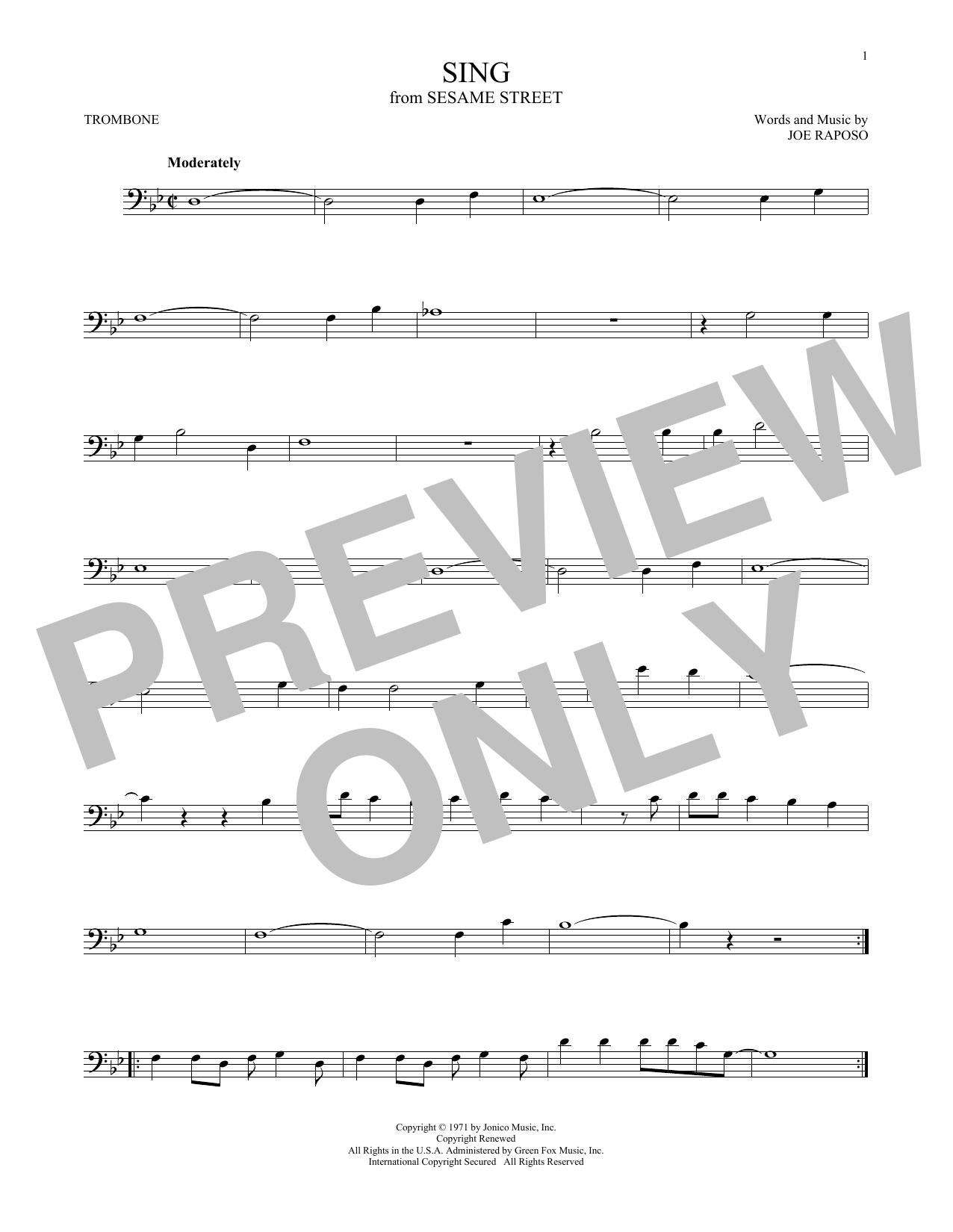 Partition autre Sing de The Carpenters - Trombone