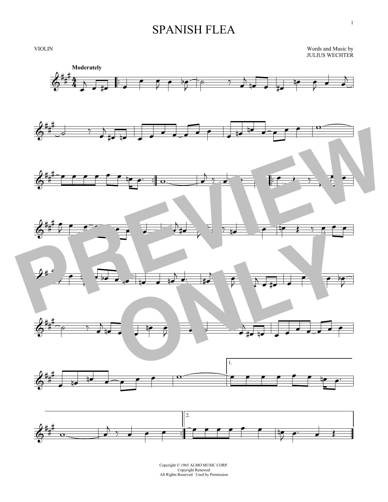 Partition autre Spanish Flea de Herb Alpert & The Tijuana Brass - Violon