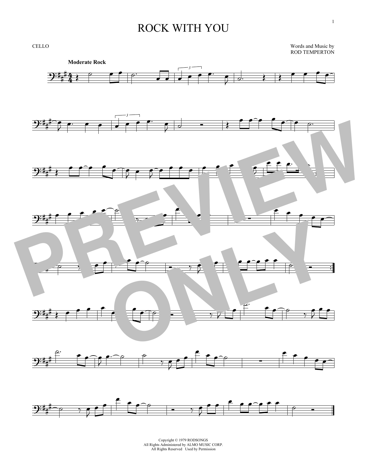 Partition autre Rock With You de Michael Jackson - Violoncelle