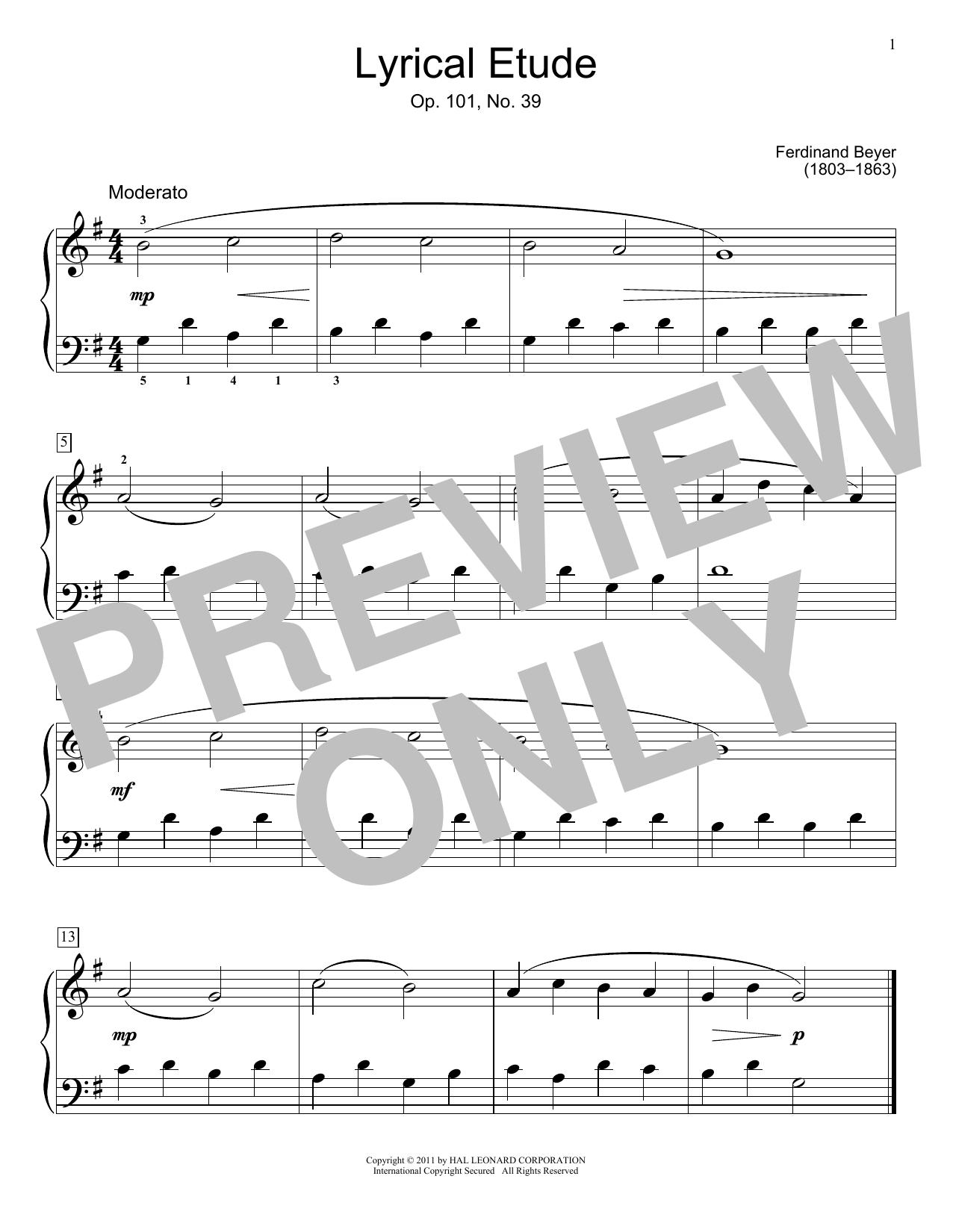 Partition piano Lyrical Etude de Jennifer Linn - Piano Facile