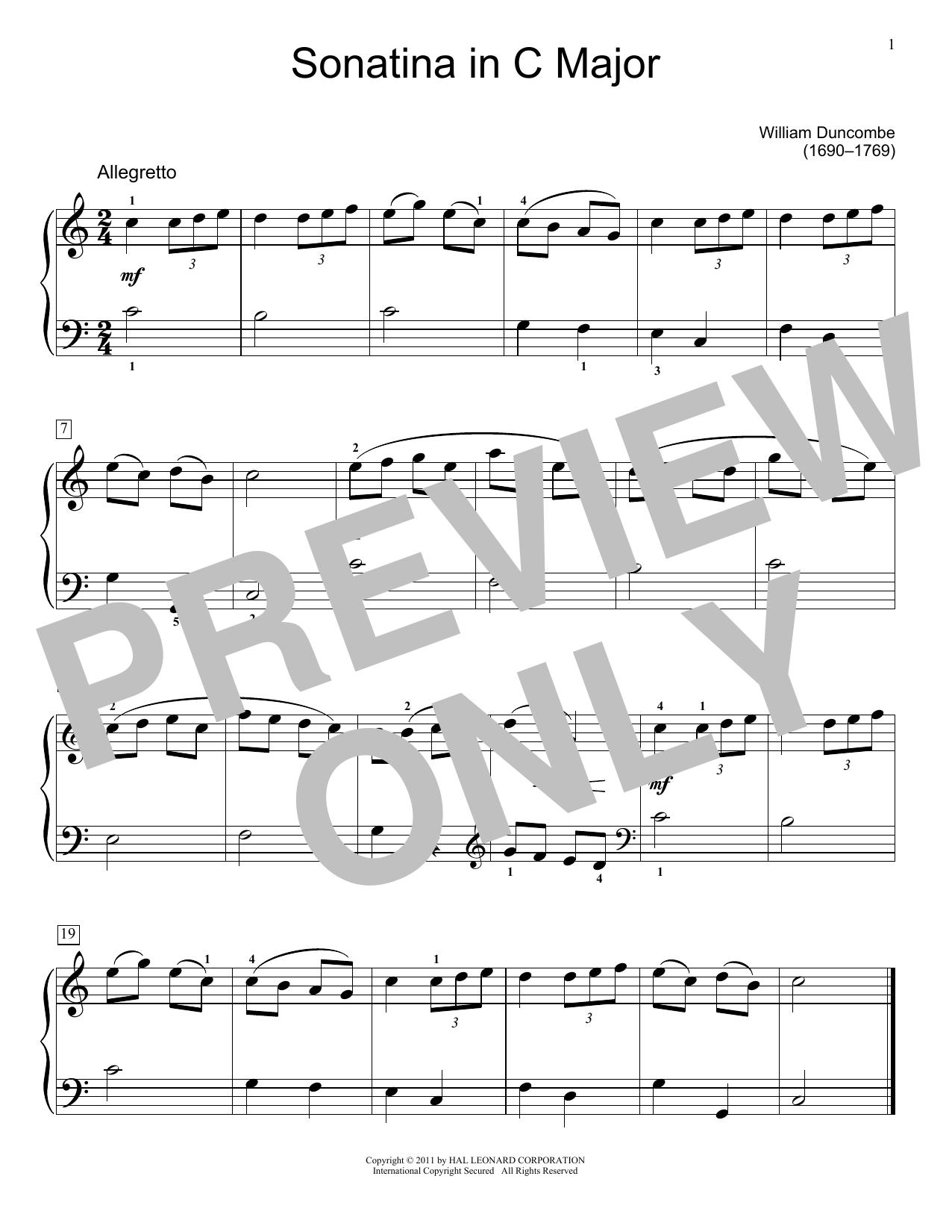 Partition piano Sonatina de Jennifer Linn - Piano Facile