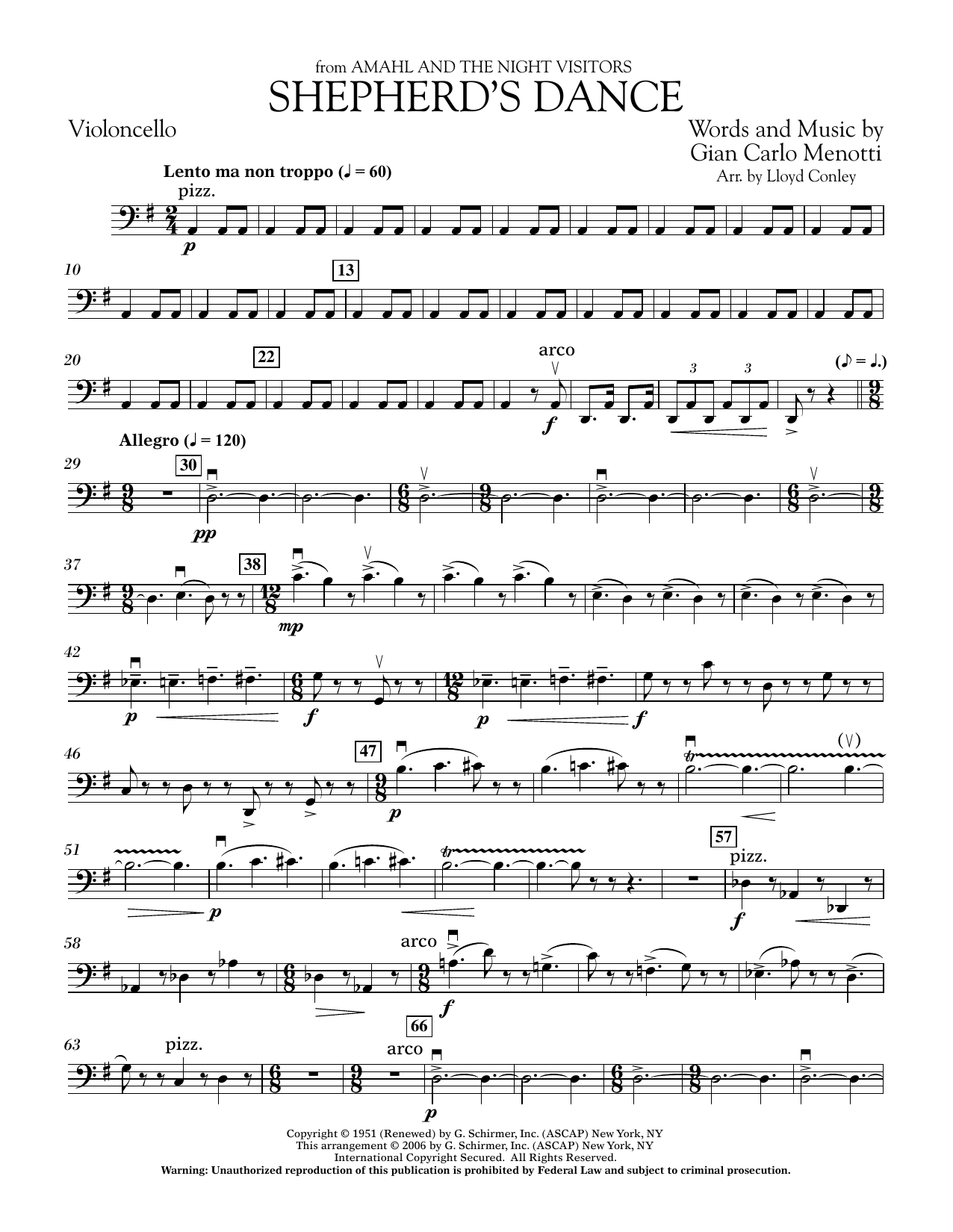 Shepherd's Dance (from Amahl and the Night Visitors) - Cello